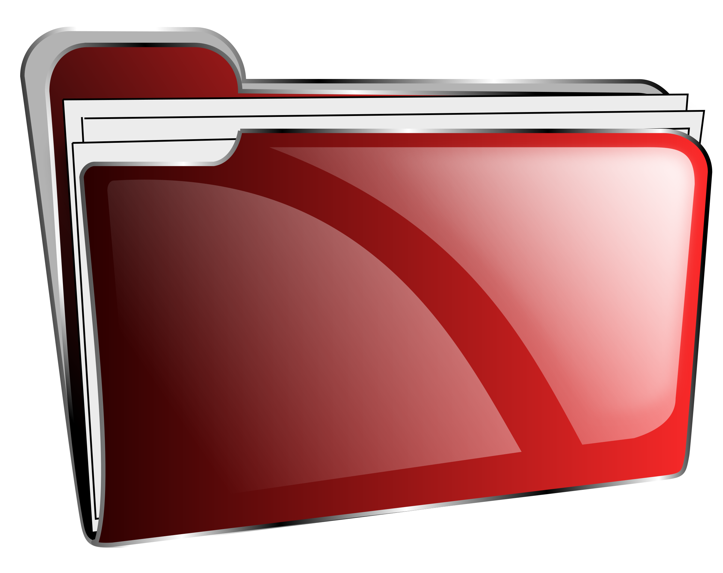 Folder icon red full by roshellin