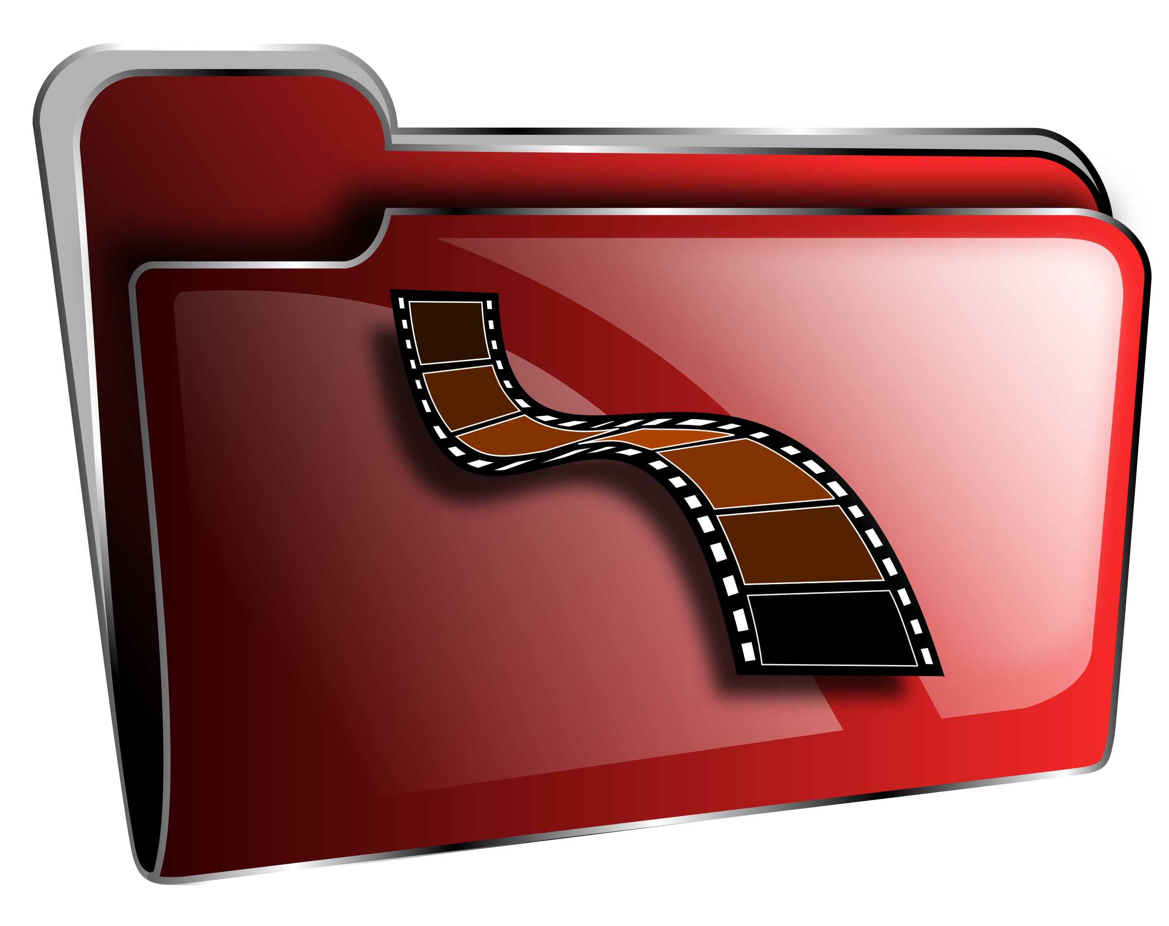 Folder icon red video by roshellin