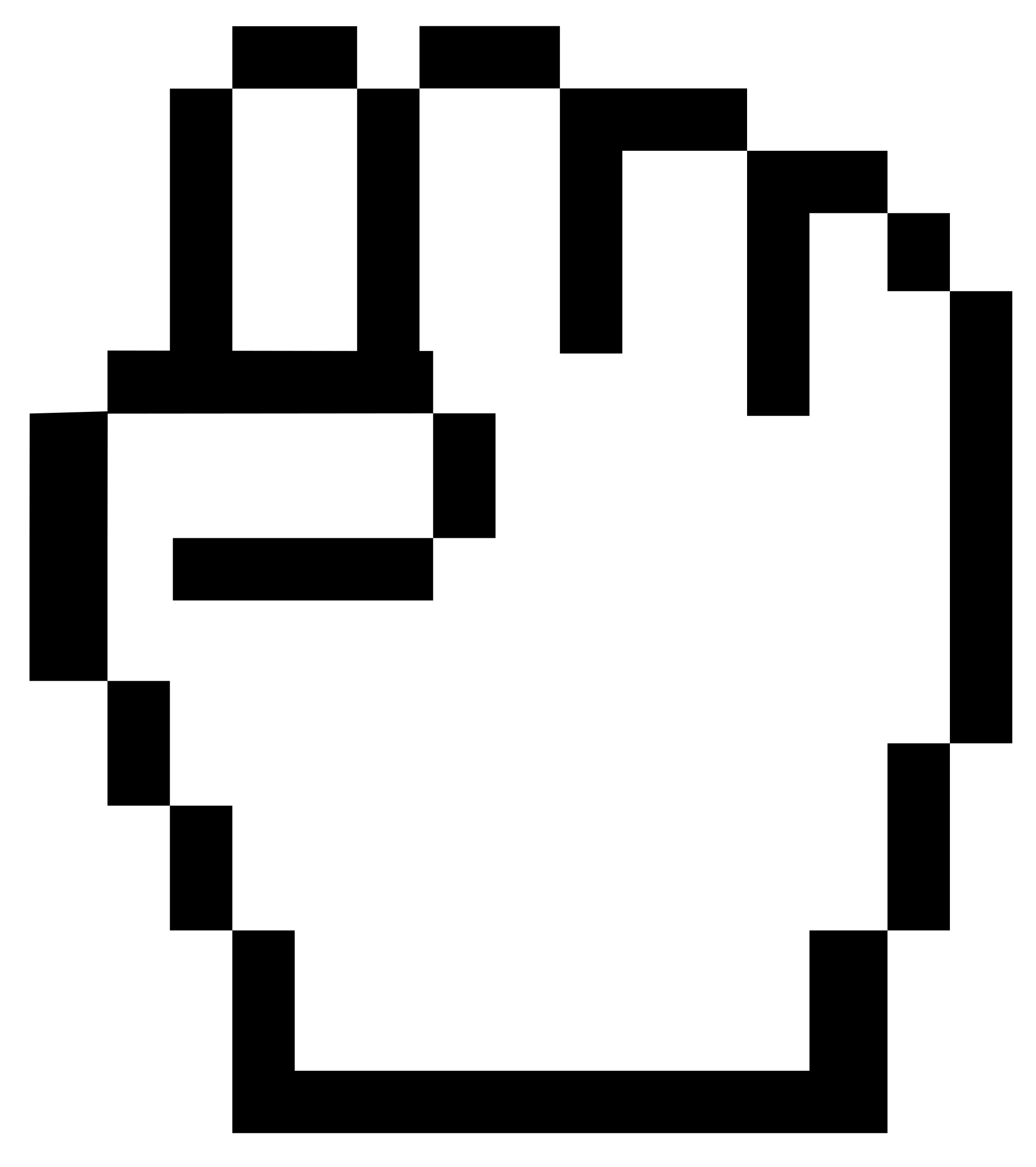 mouse pointer fist by worker