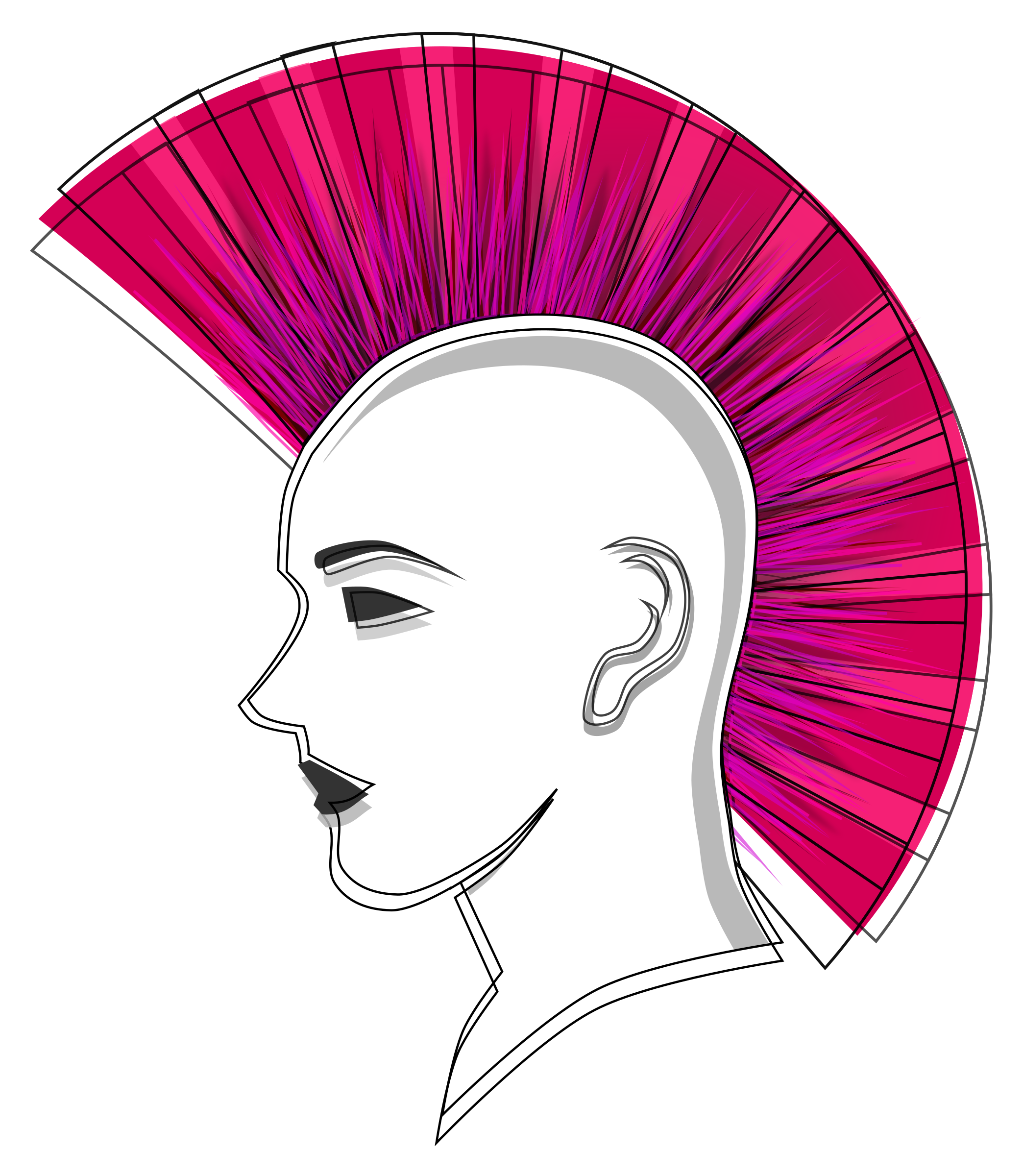 Stylised Punk Pink Mohawk by Viscious-Speed