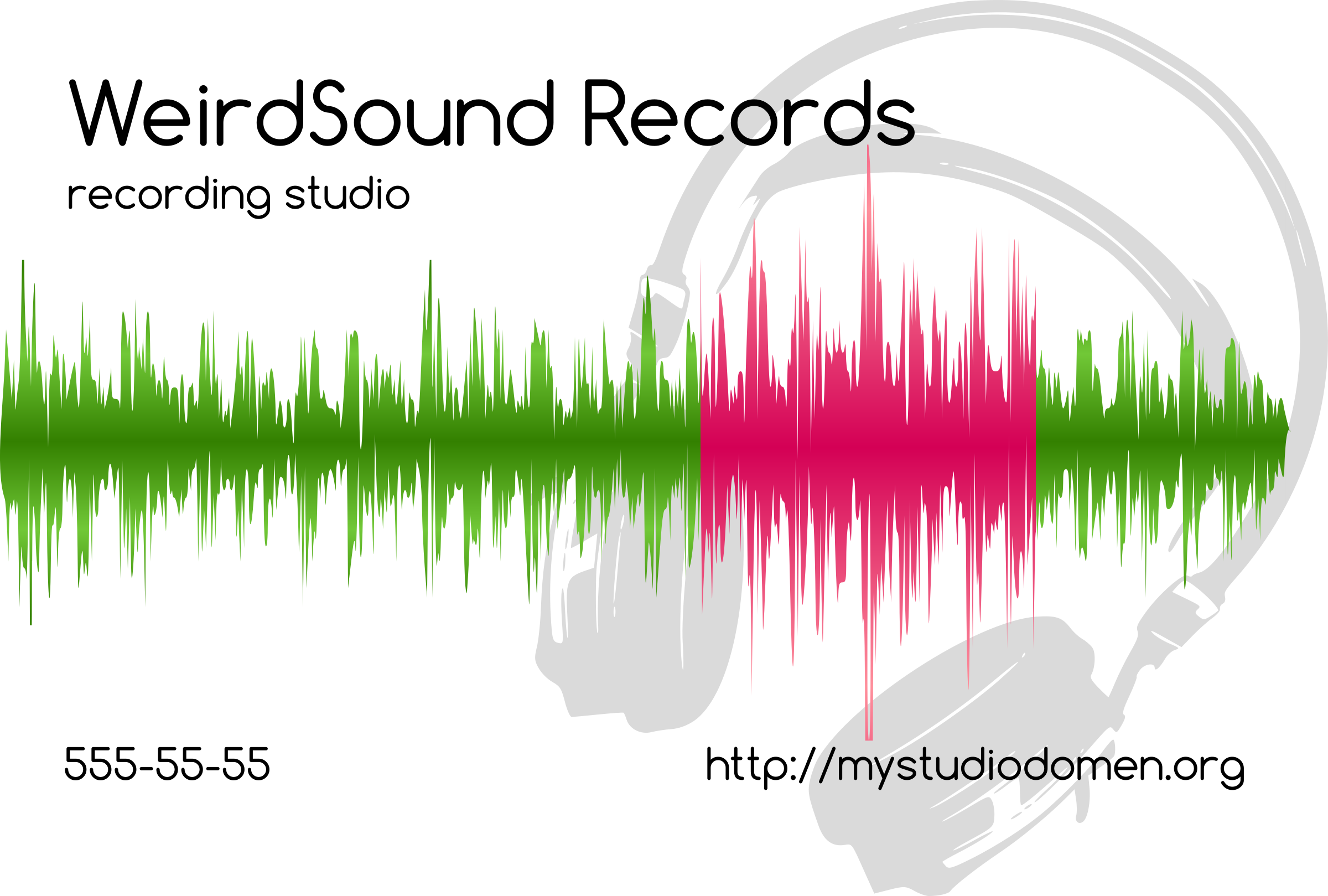 White businesscard for recording studio by boobaloo