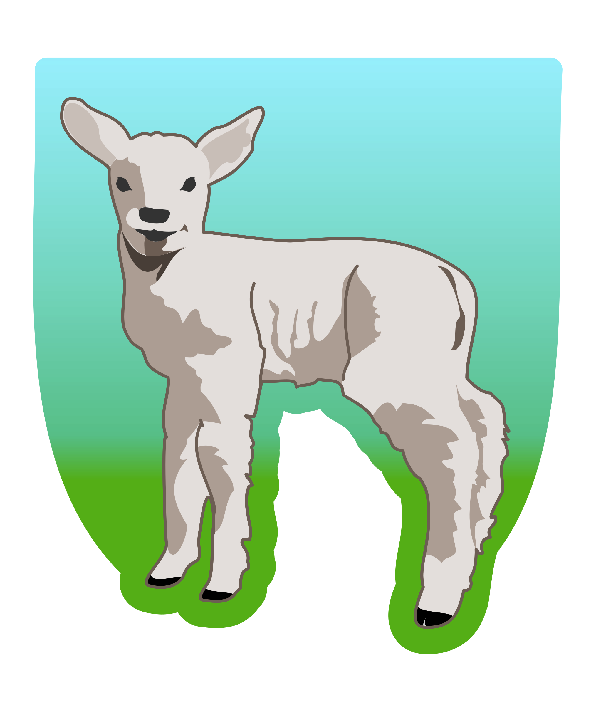 young lamb by molumen