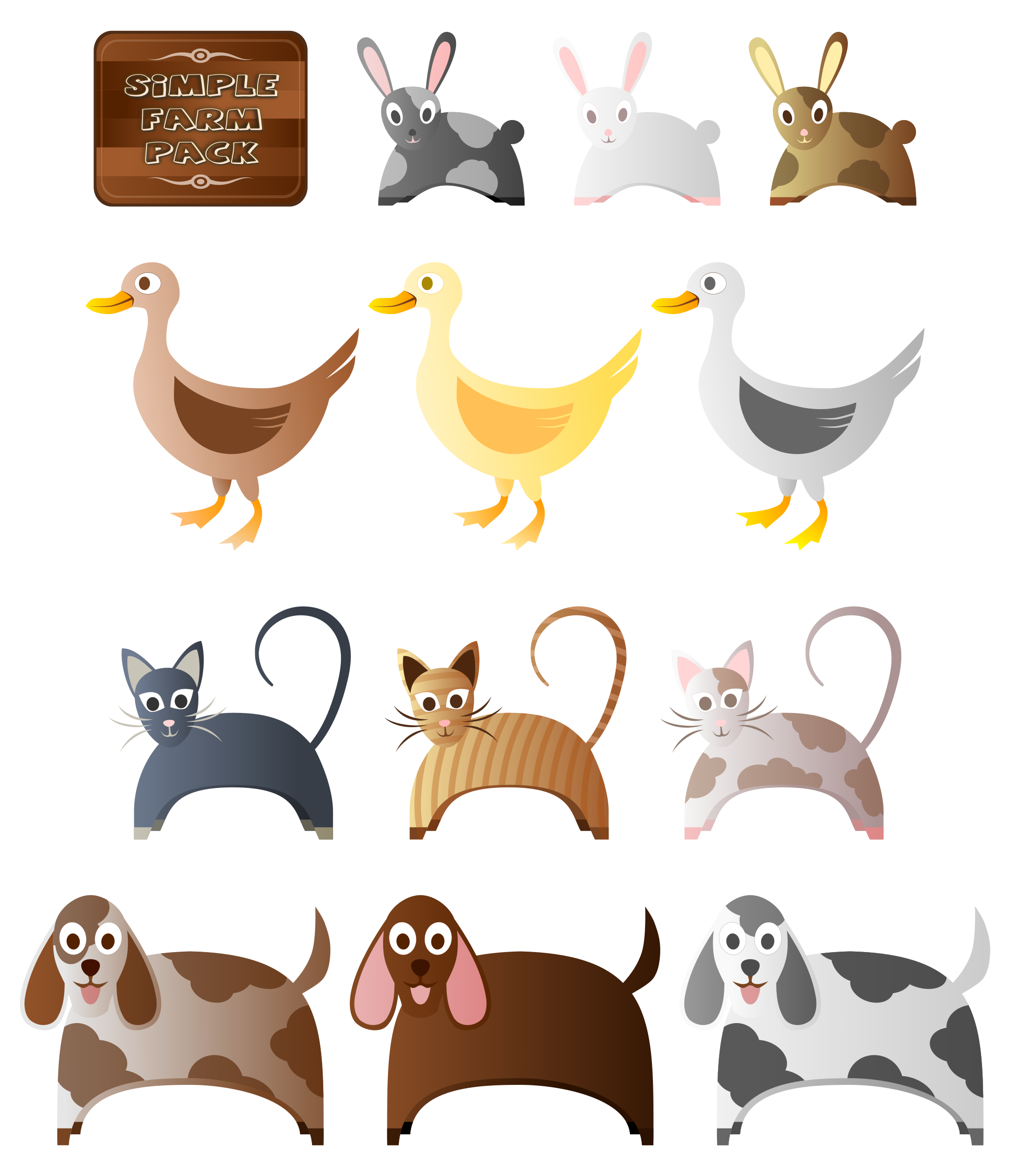 Simple Farm Animals 2 by Viscious-Speed