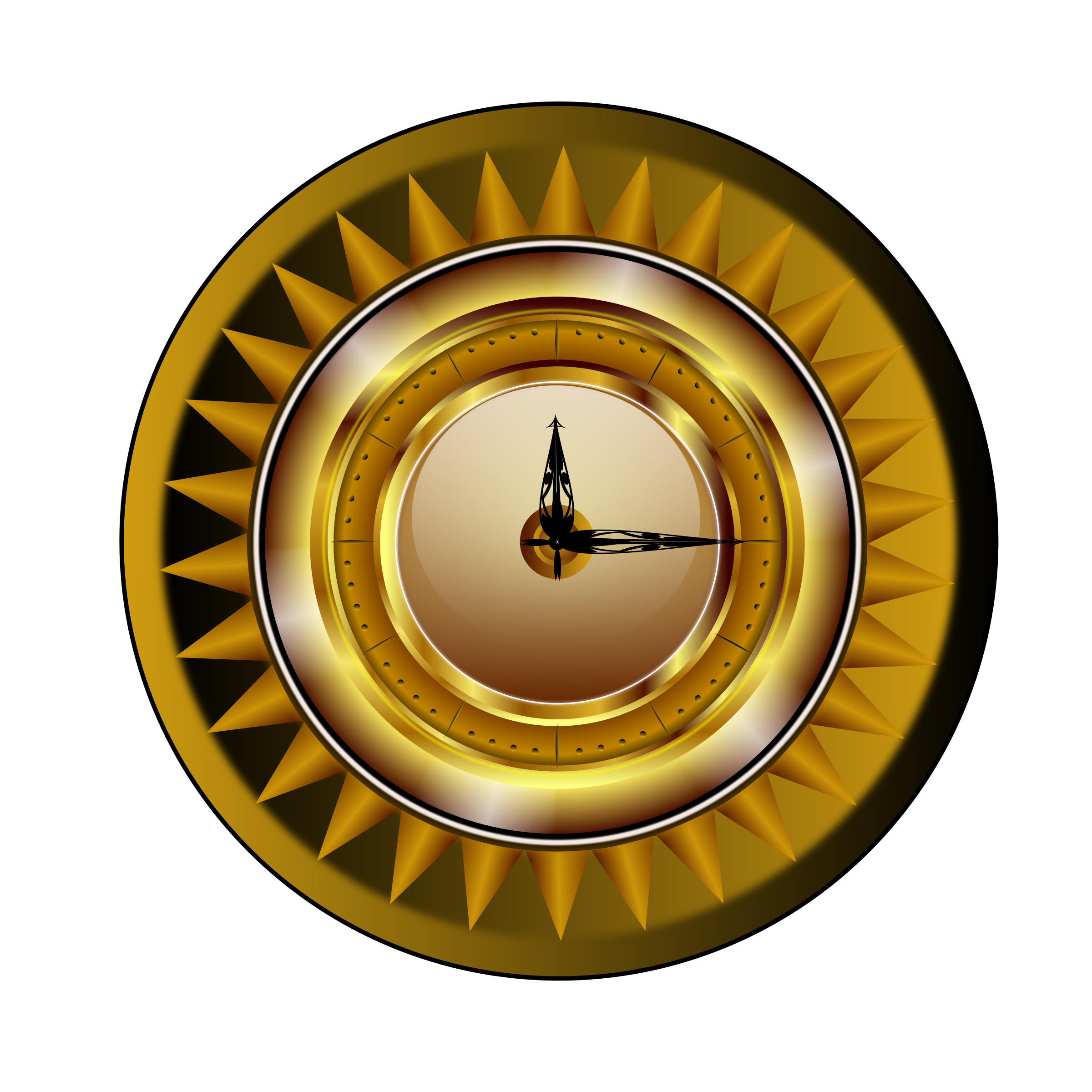 Gold clock by roshellin