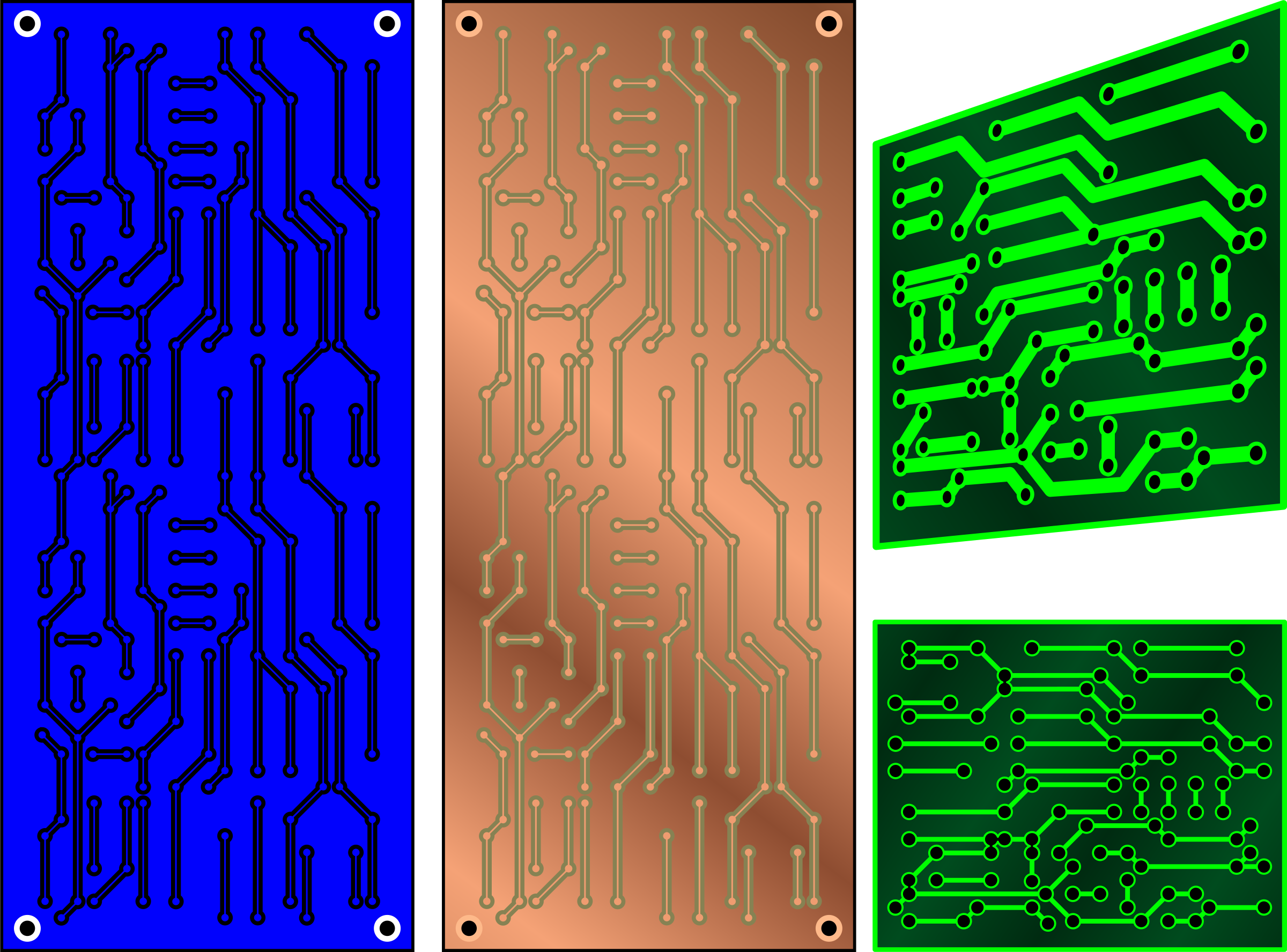 PCB 3 color - electronics by Keistutis
