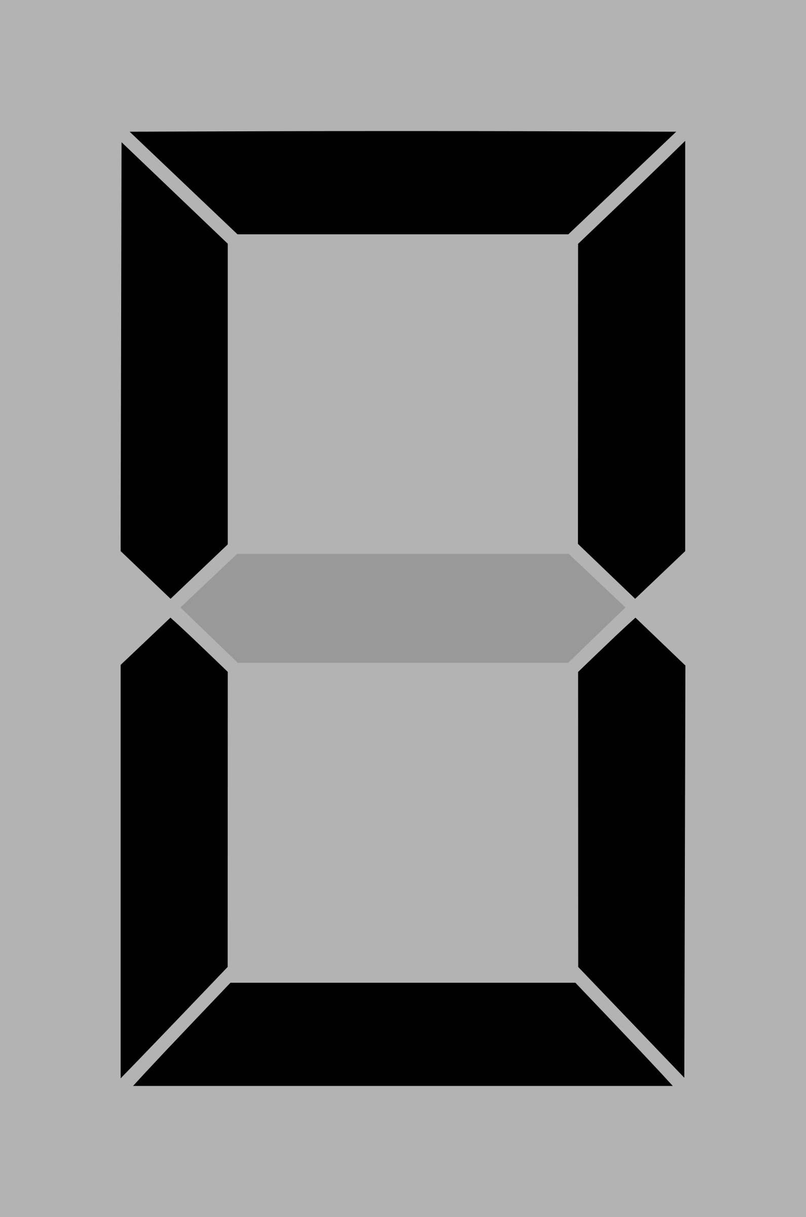 Seven segment display gray 0 by alex8664