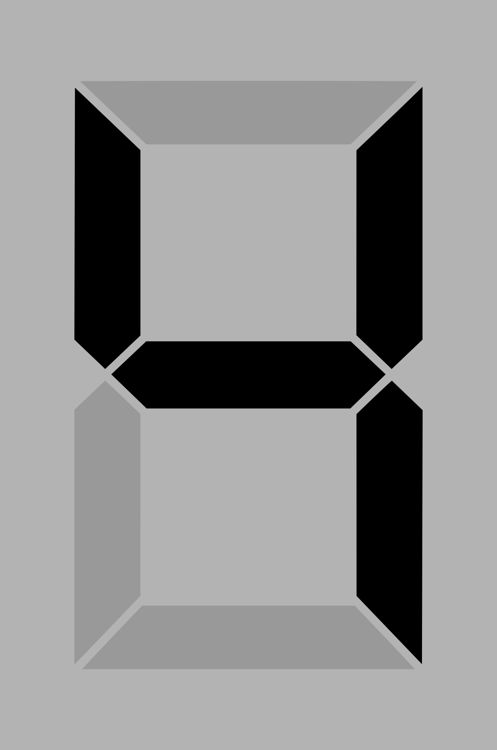 Seven segment display gray 4 by alex8664