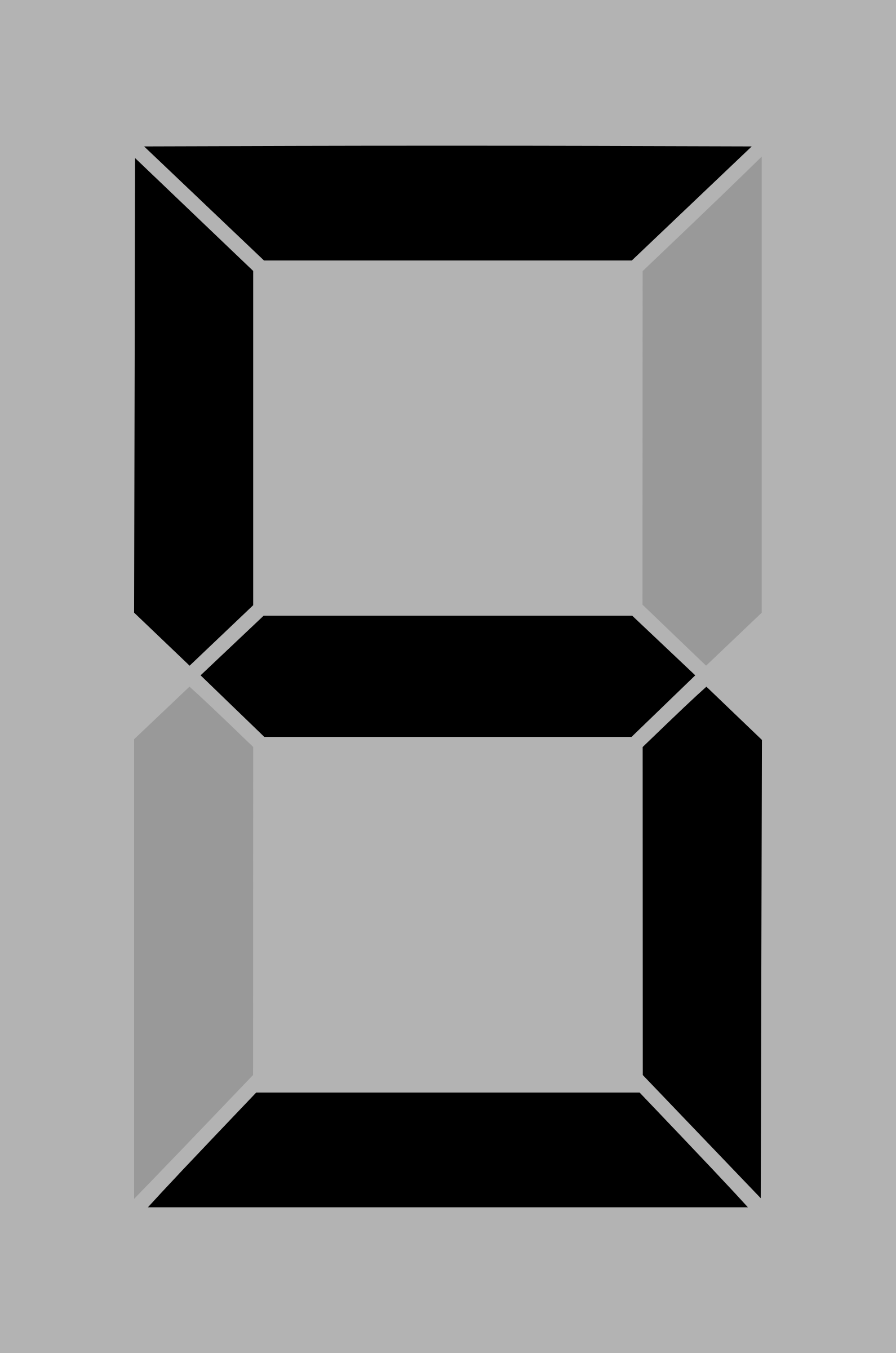 Seven segment display gray 5 by alex8664
