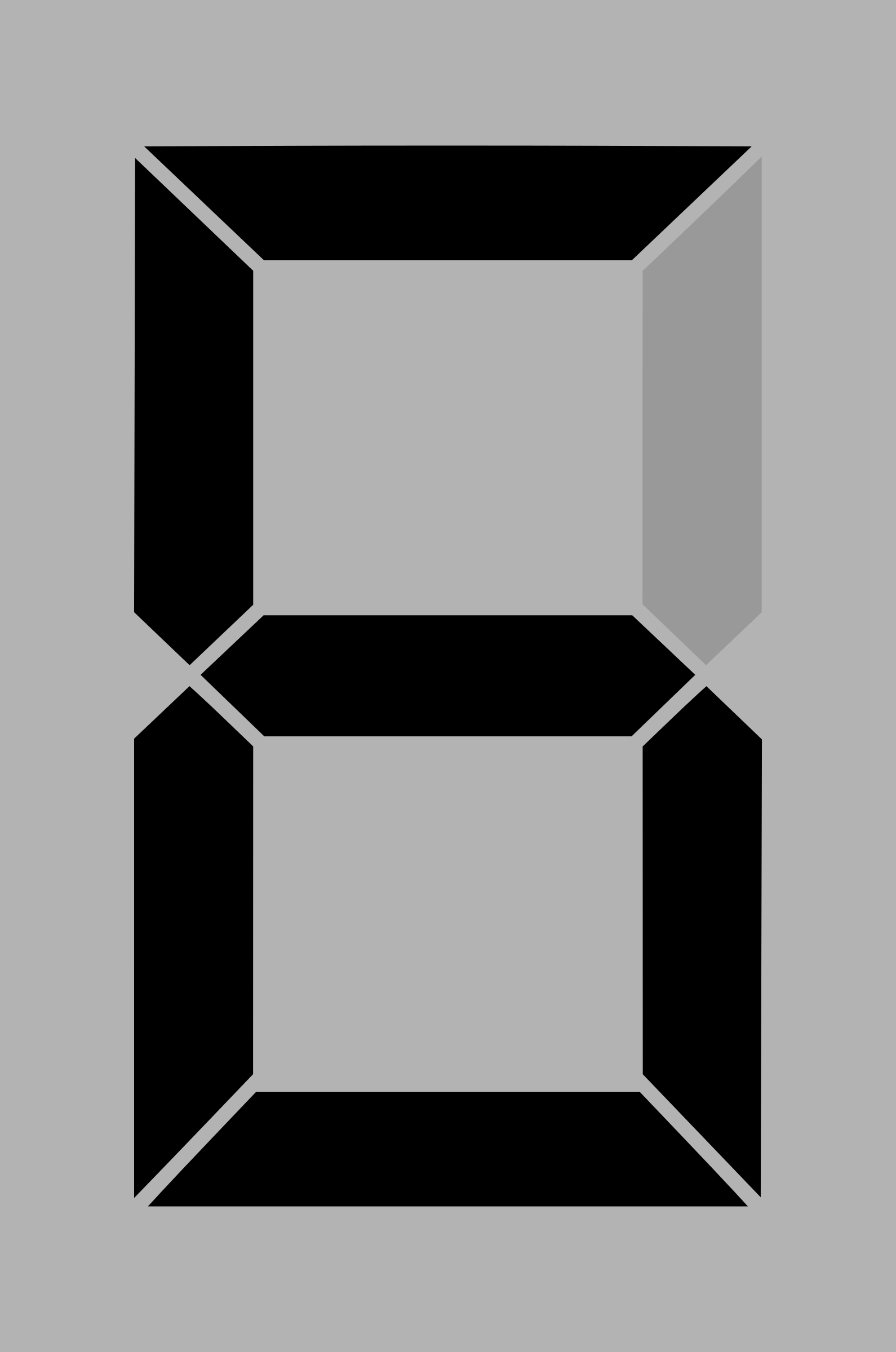 Seven segment display gray 6 by alex8664