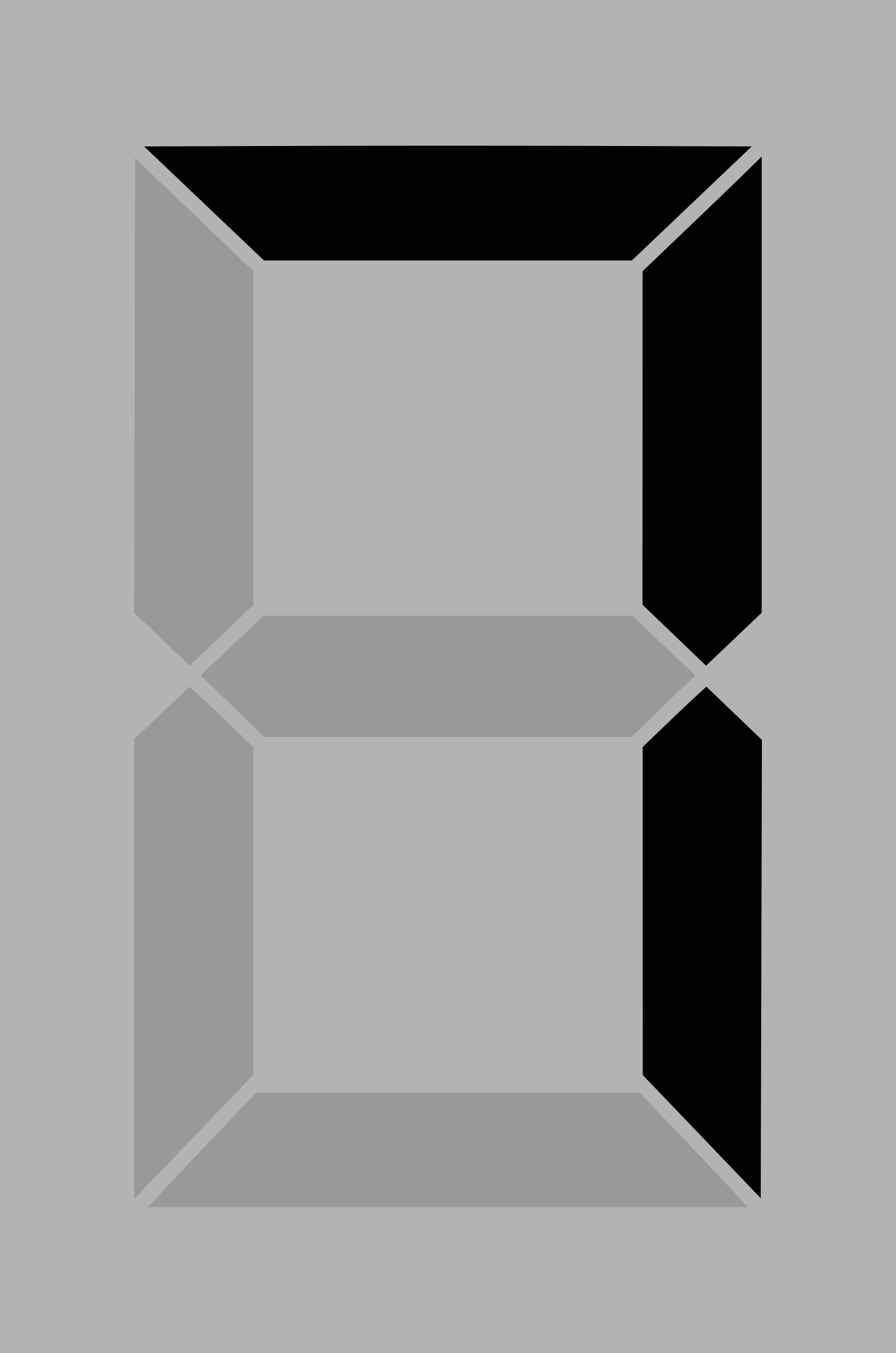 Seven segment display gray 7 by alex8664