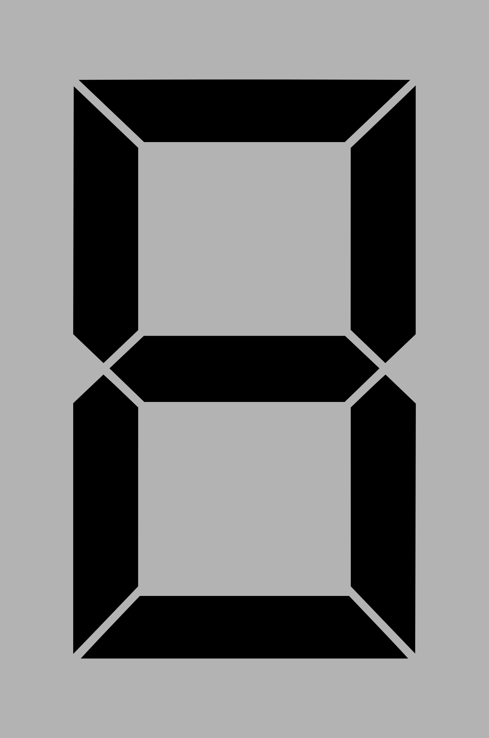 Seven segment display gray 8 by alex8664