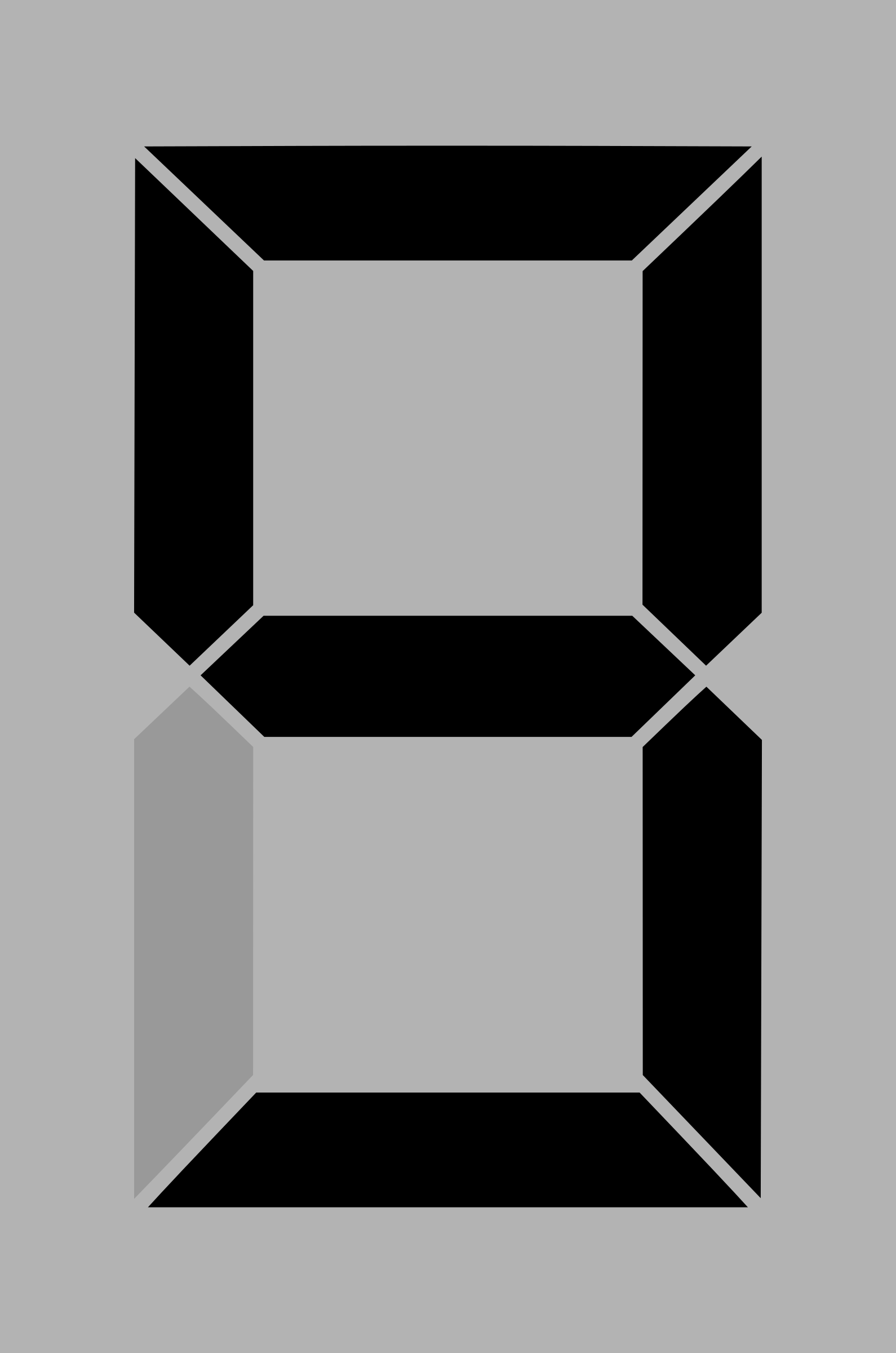 Seven segment display gray 9 by alex8664