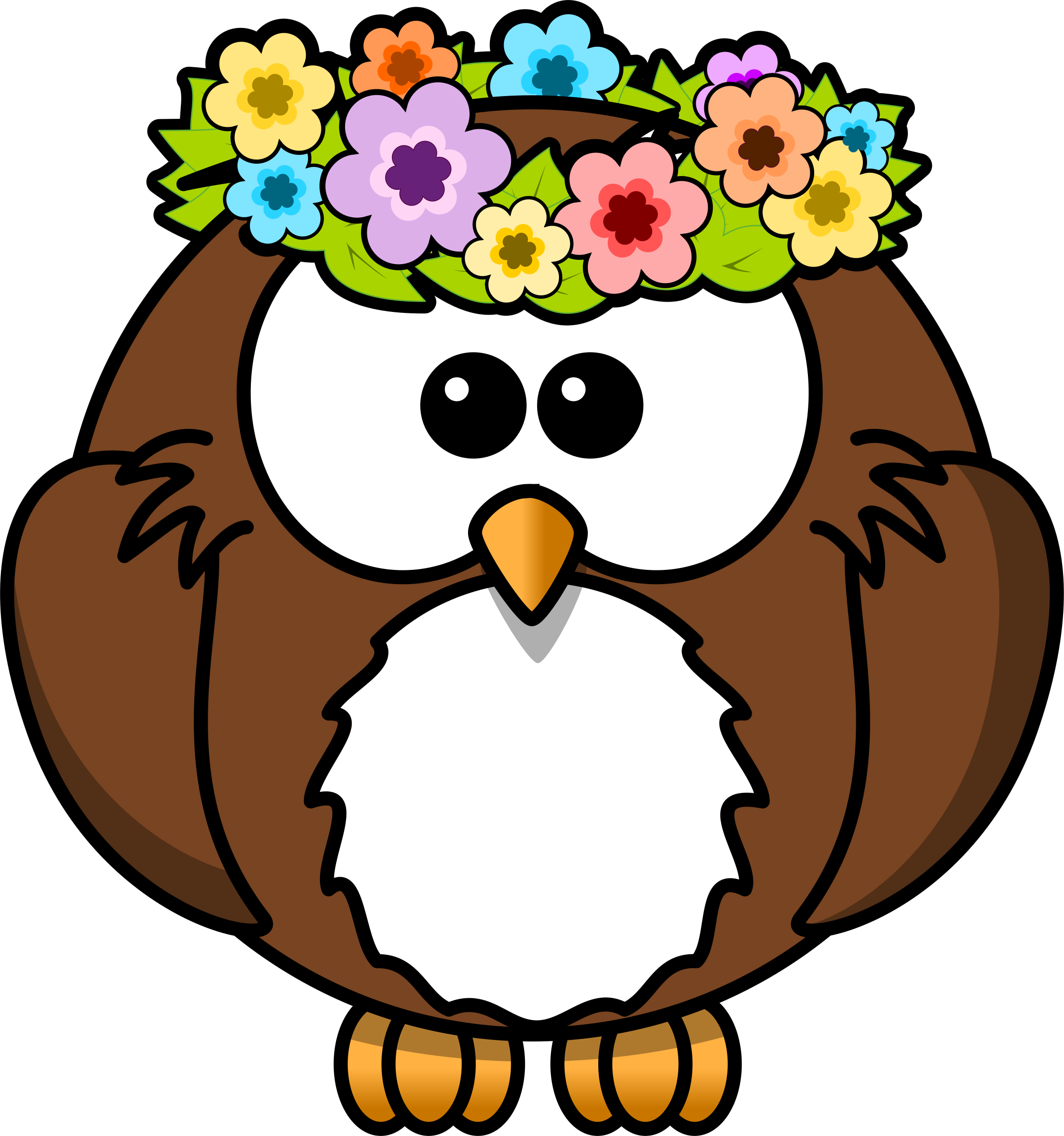 Owl with garland by bocian