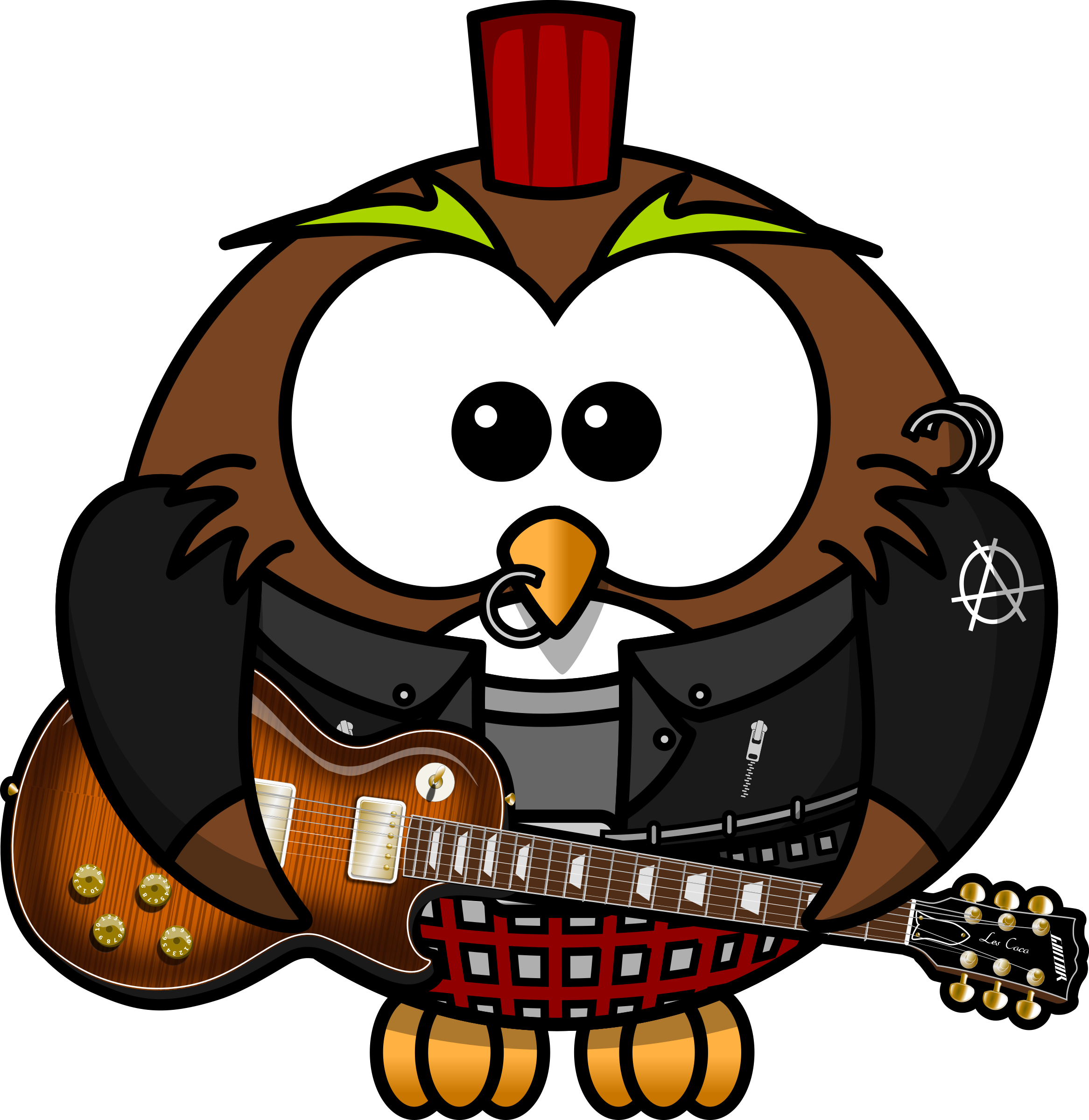 Punk Owl by bocian