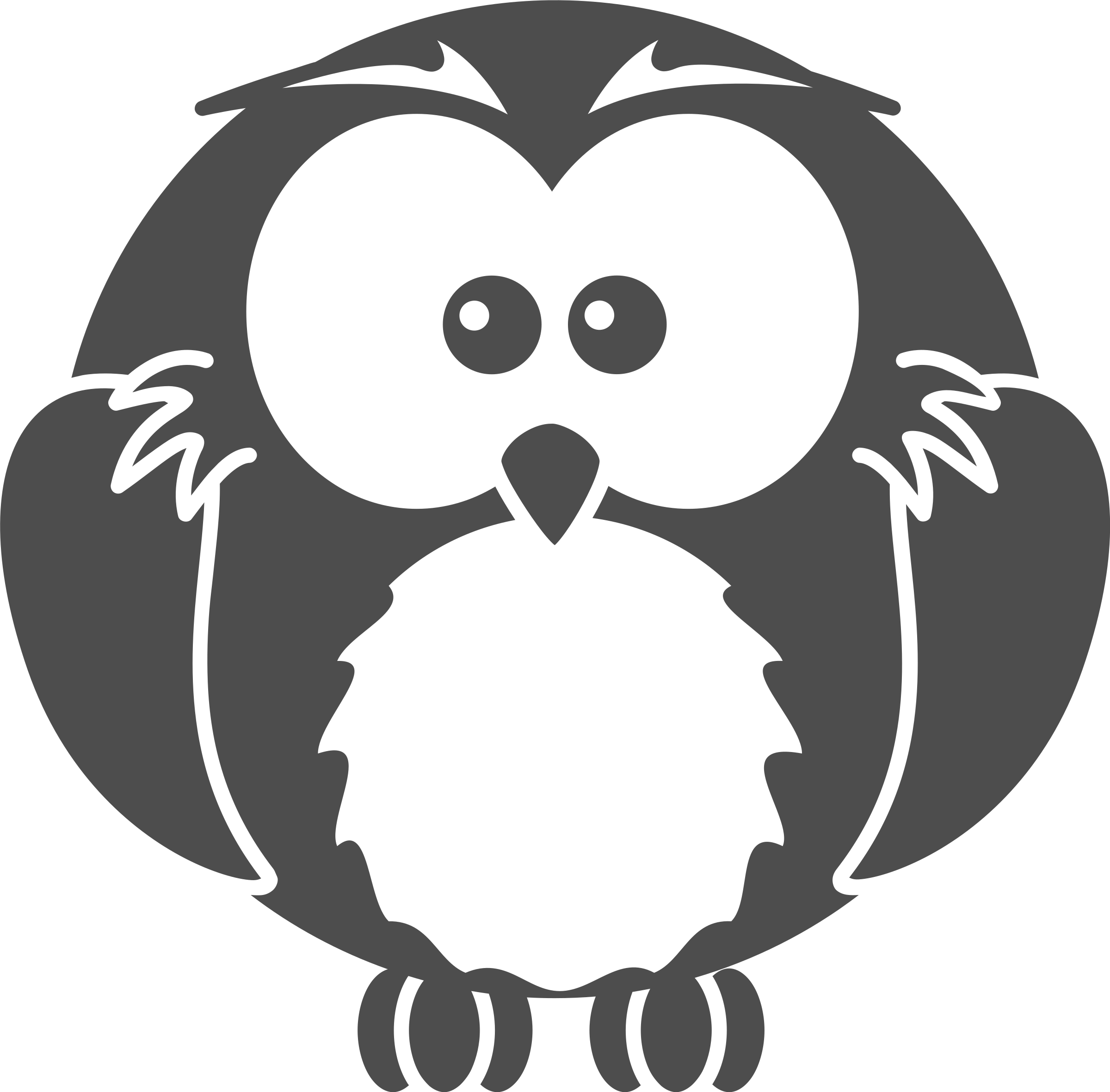 Cartoon owl  by bocian