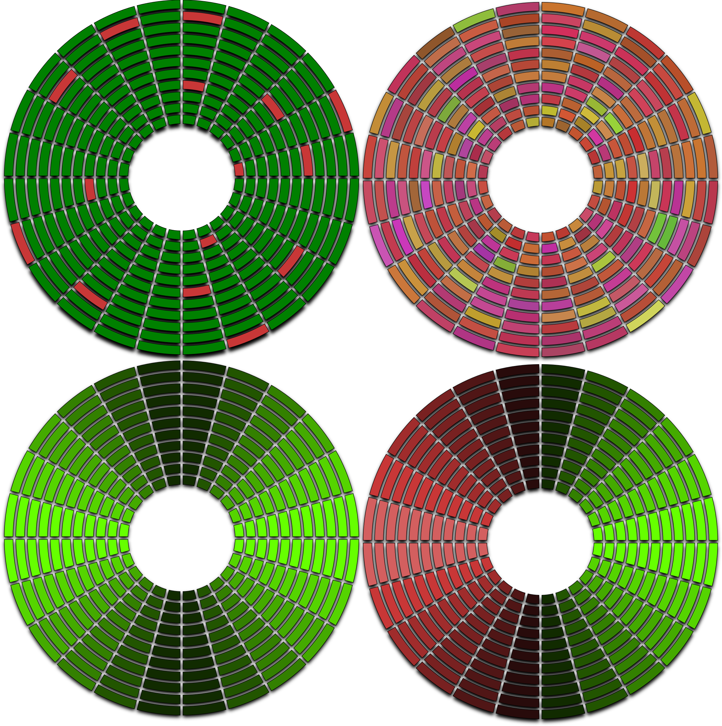 abstract disc circle hdd defragmented fragmented with bad sectors by Keistutis