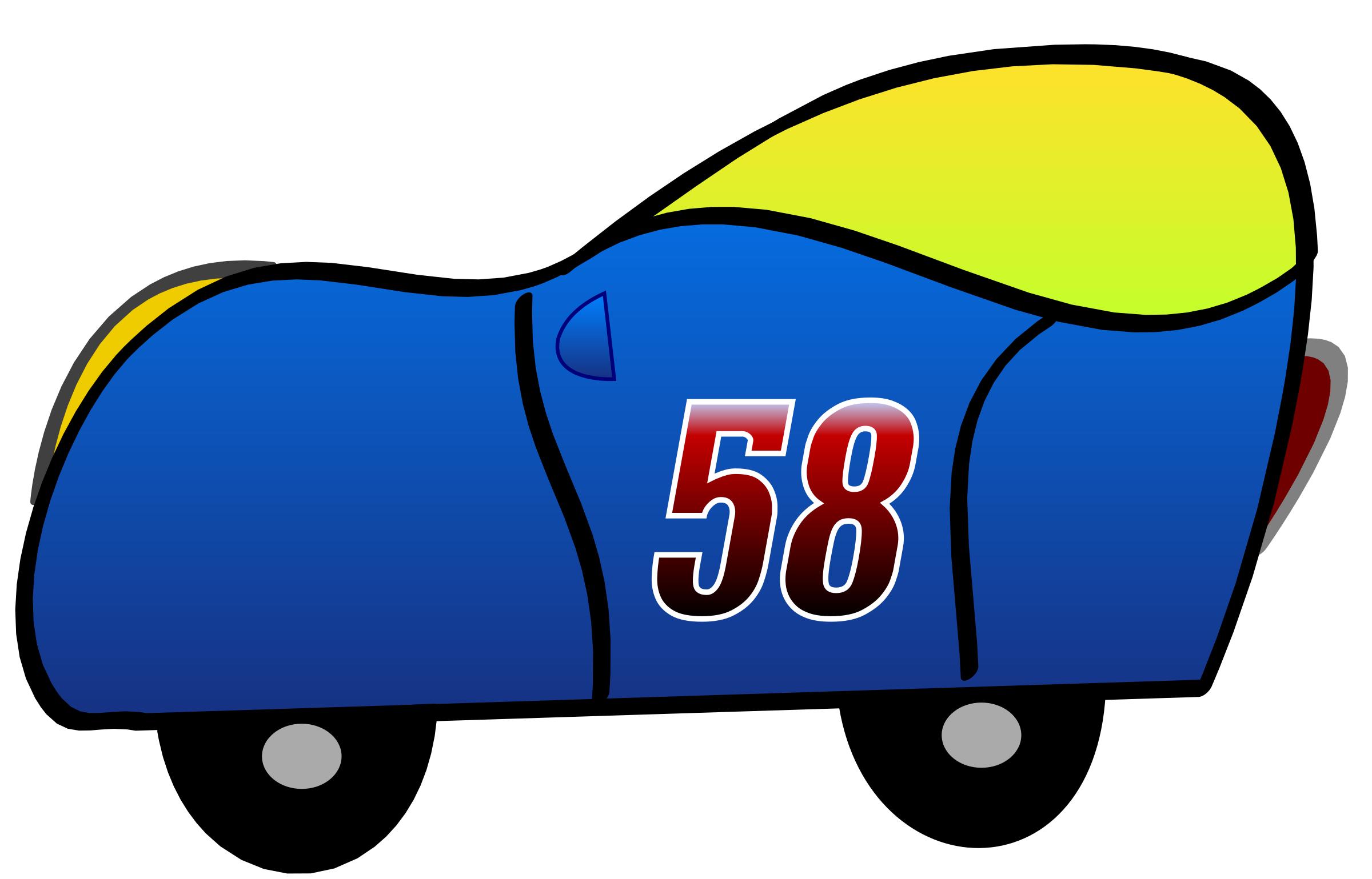 2D blue funny car by martin74