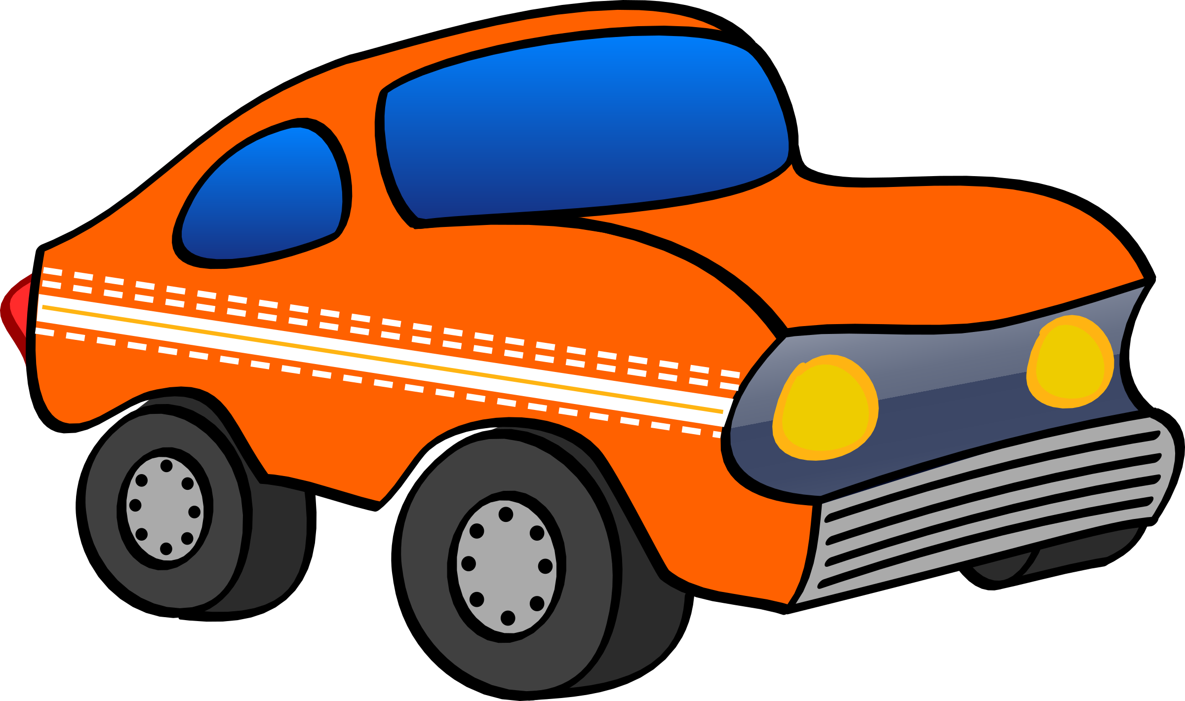 orange funny car by martin74
