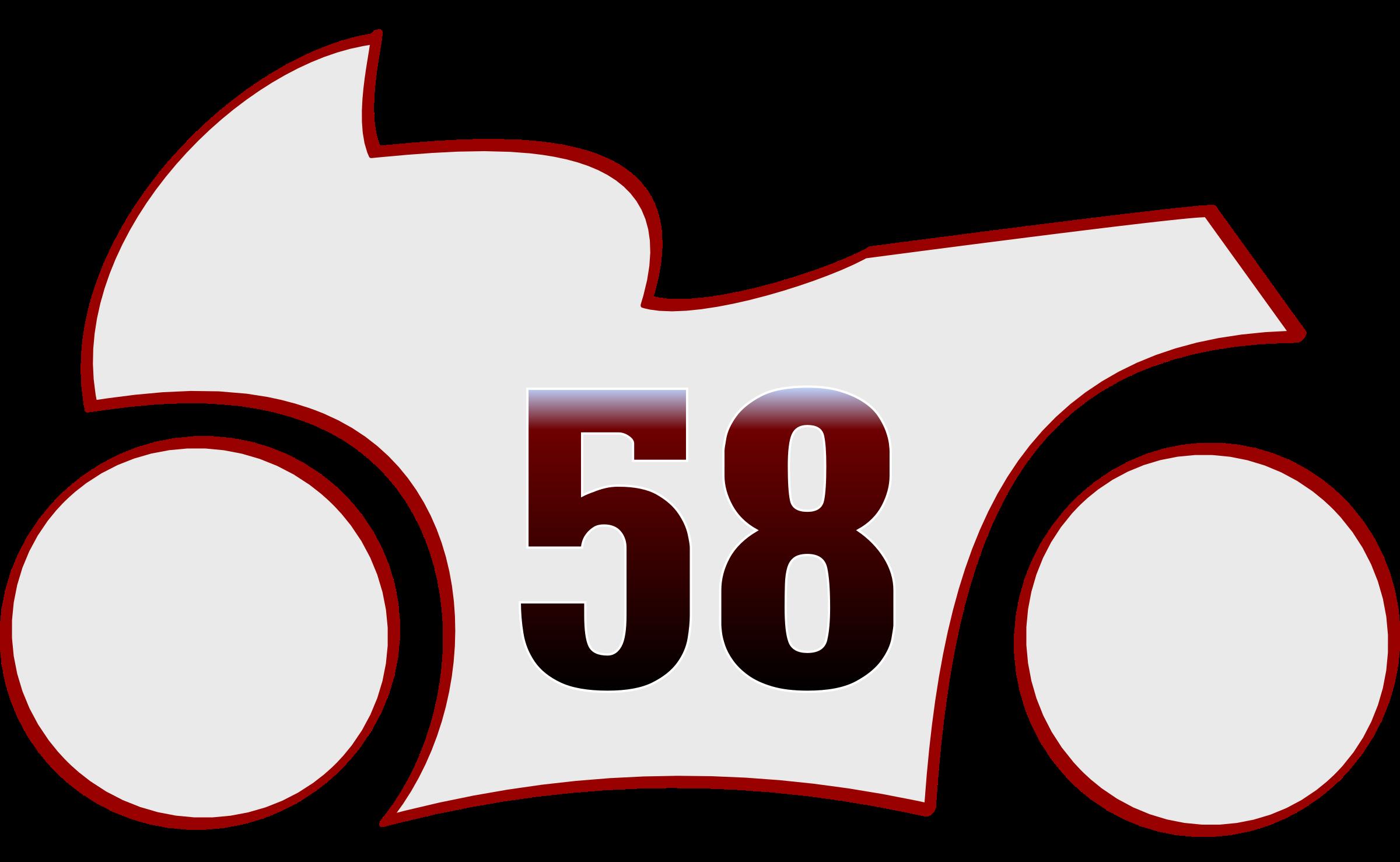Clipart - stylized marco Simoncelli motoGP