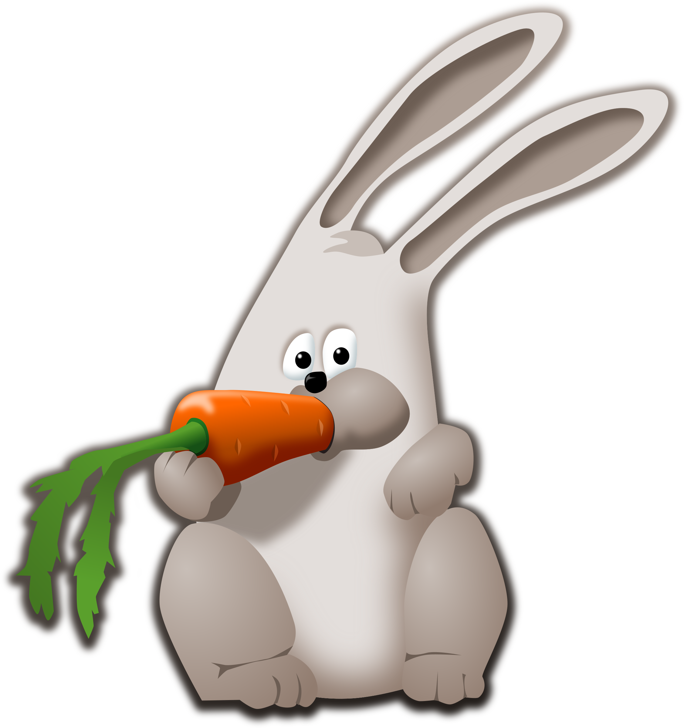 bunny eating carrot by tzunghaor