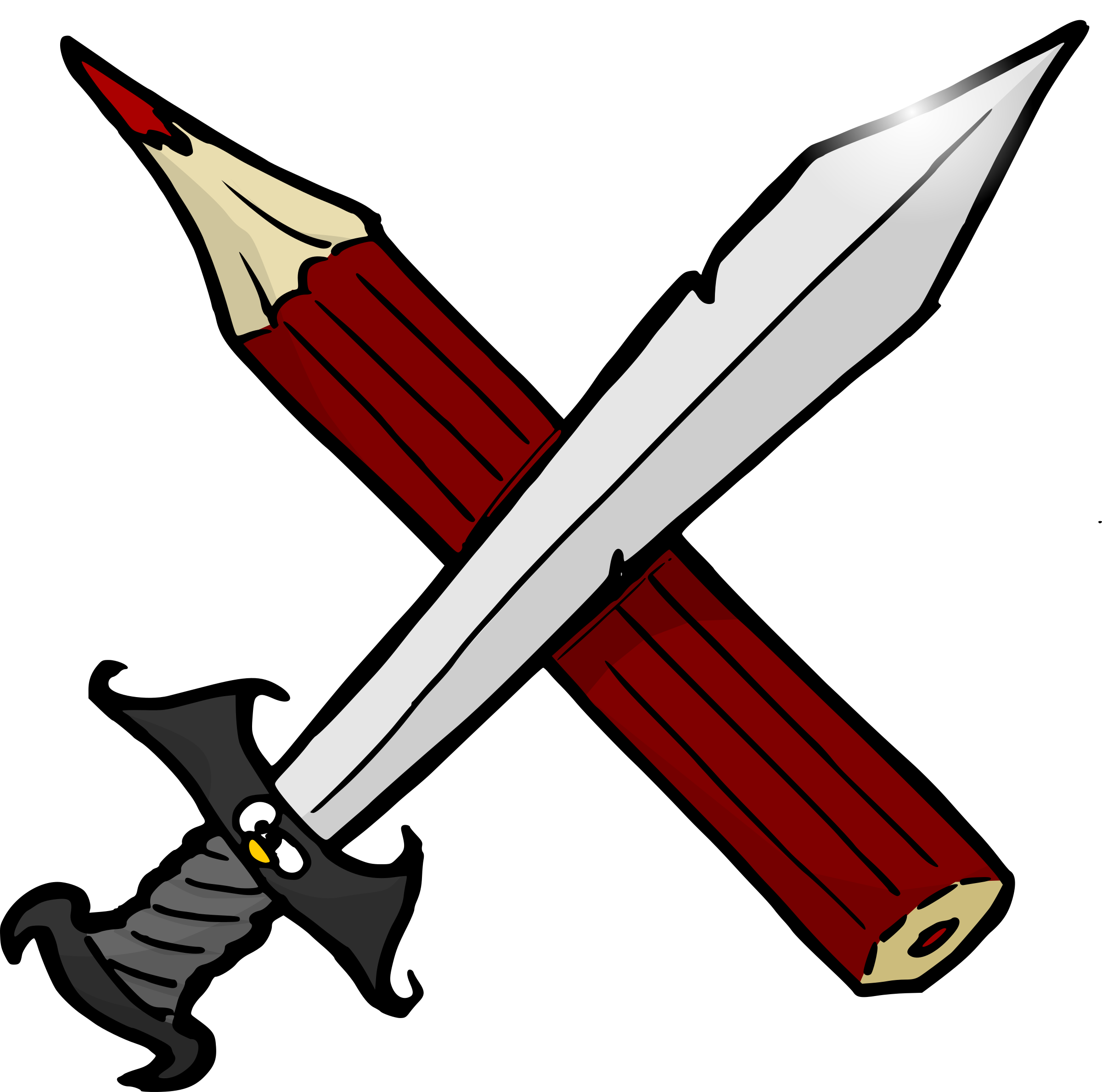 Sword and pencil by Odysseus