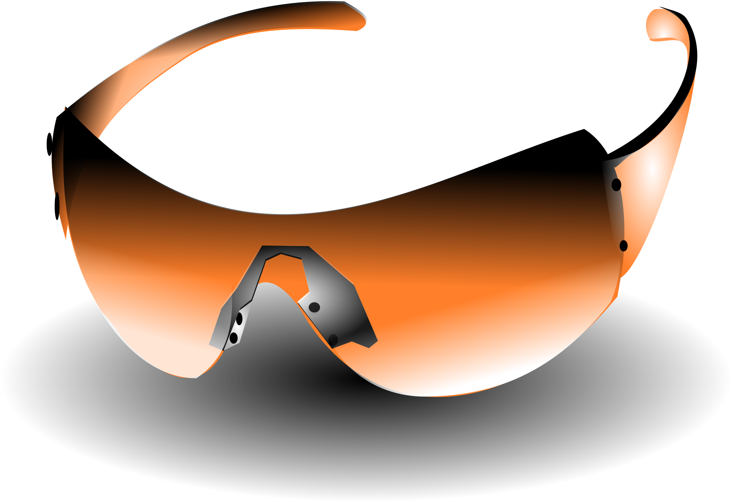 sunglasses orange by hatalar205