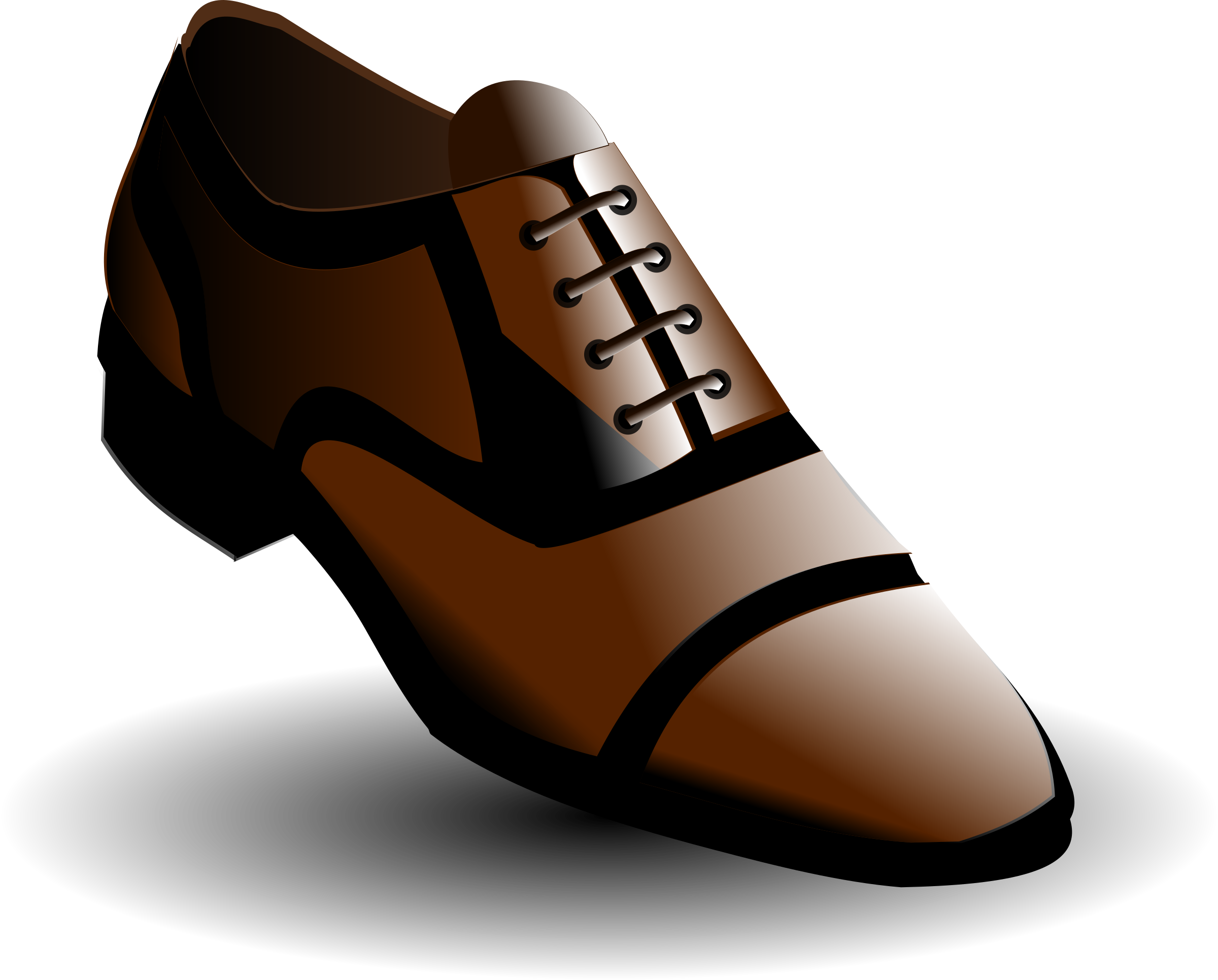 clipart black and brown shoes