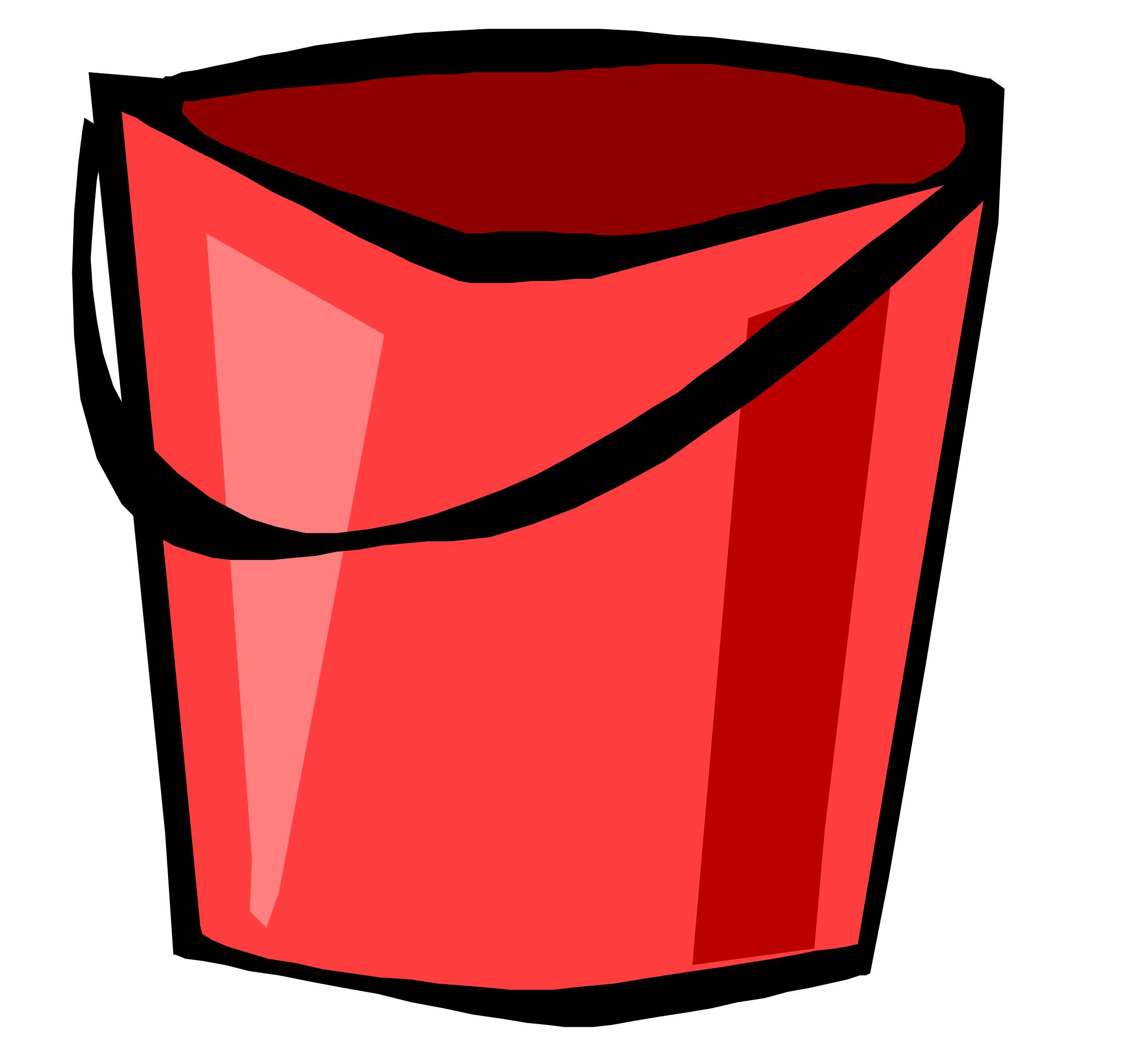 Red Bucket by ensarija