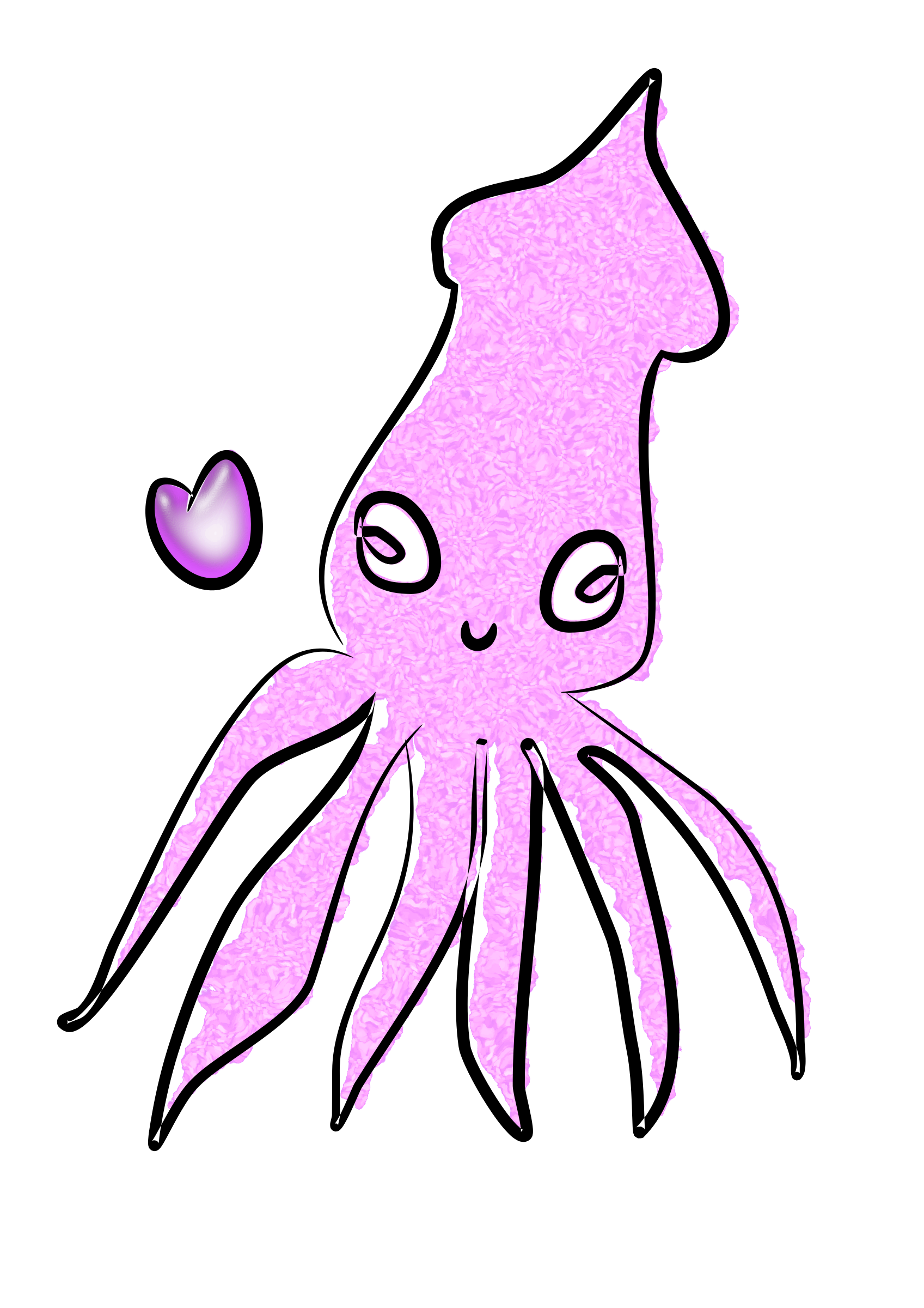 Loving Squid by holyseamonkeys