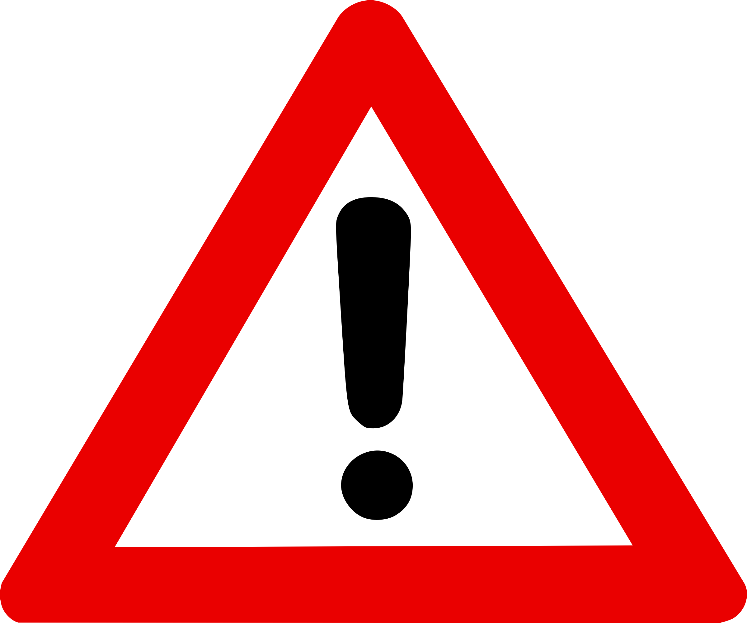 clipart warning sign