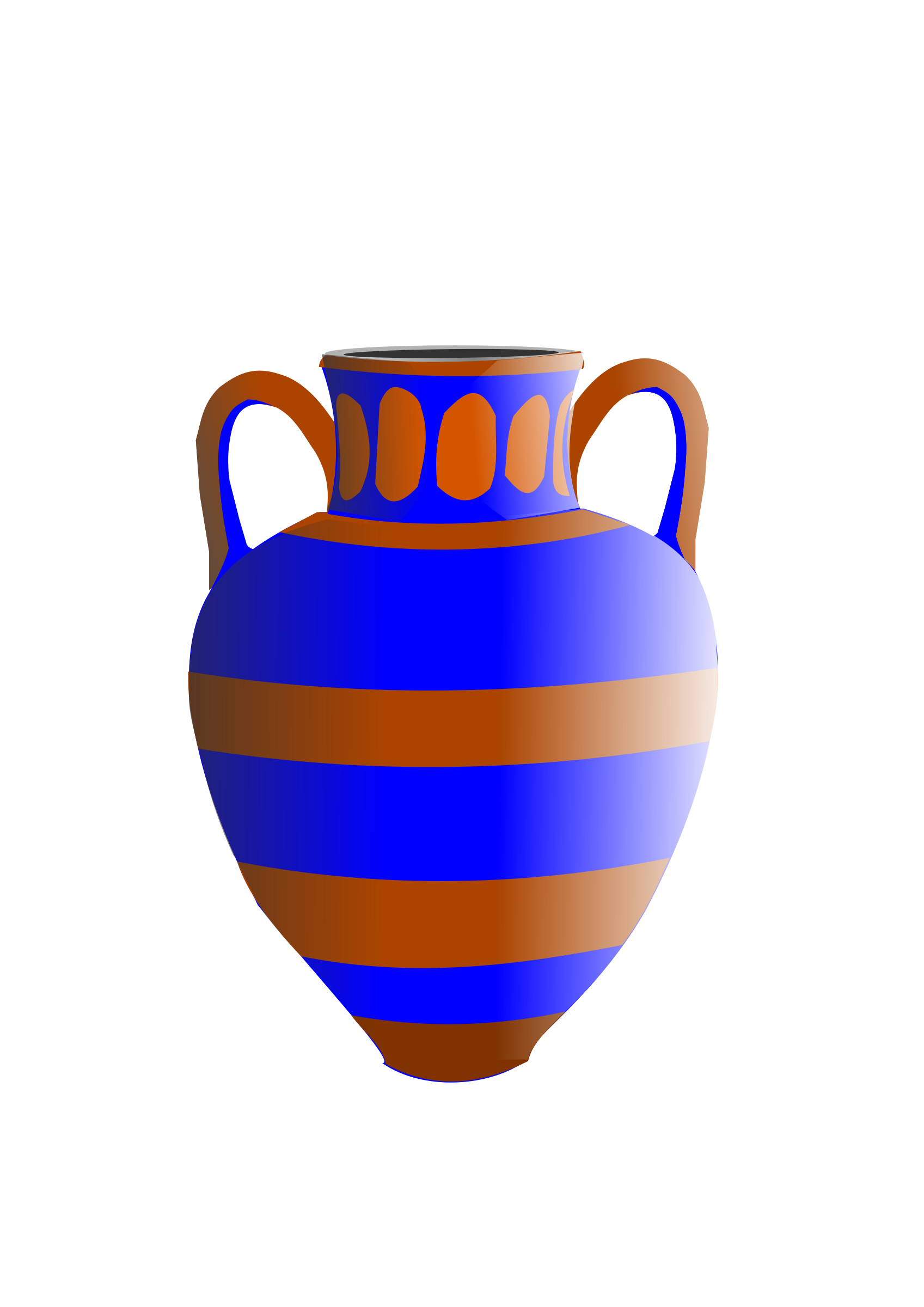 old fashioned vase blue and brown by hatalar205