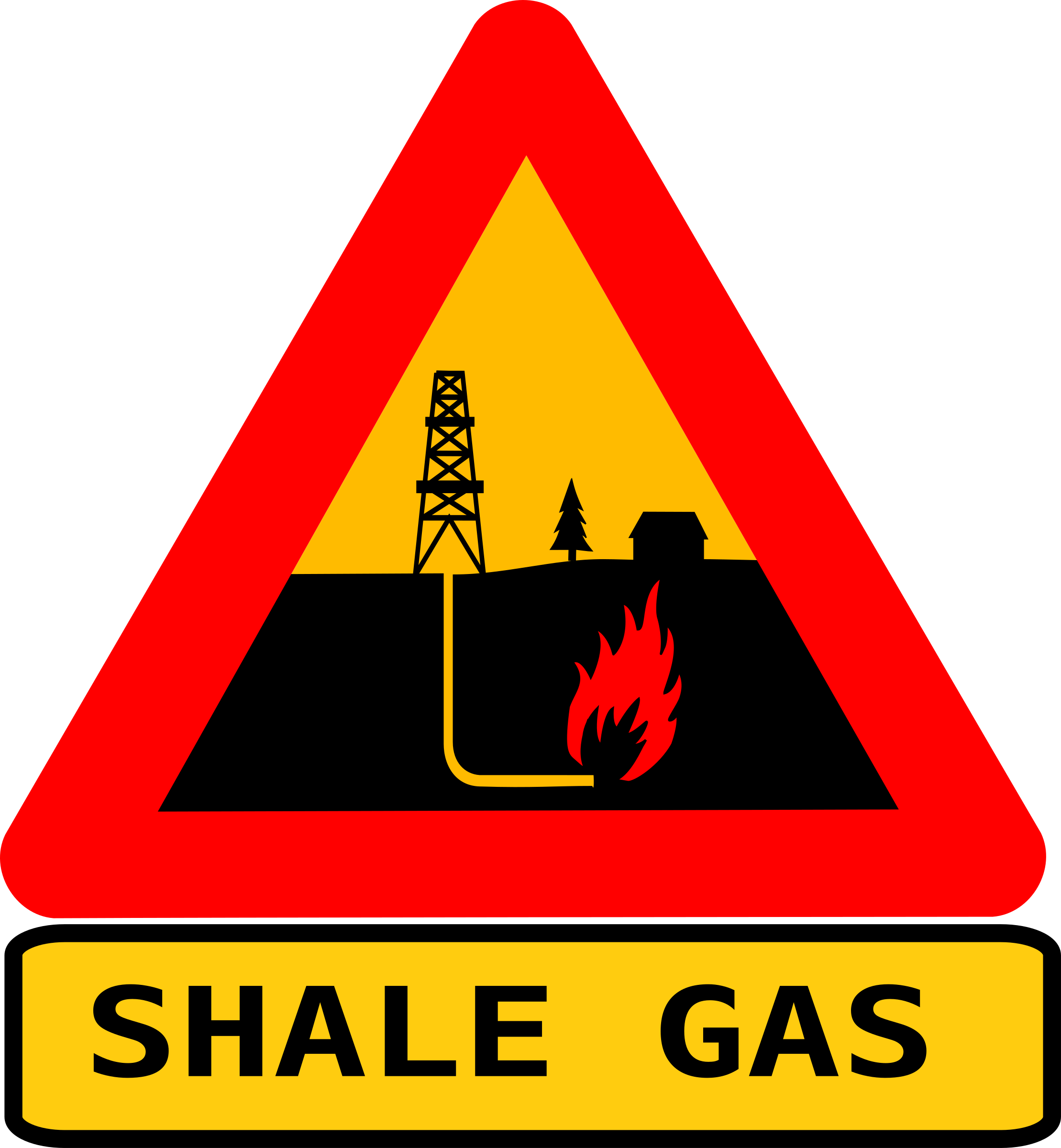 Warning shale gas with text by dominiquechappard