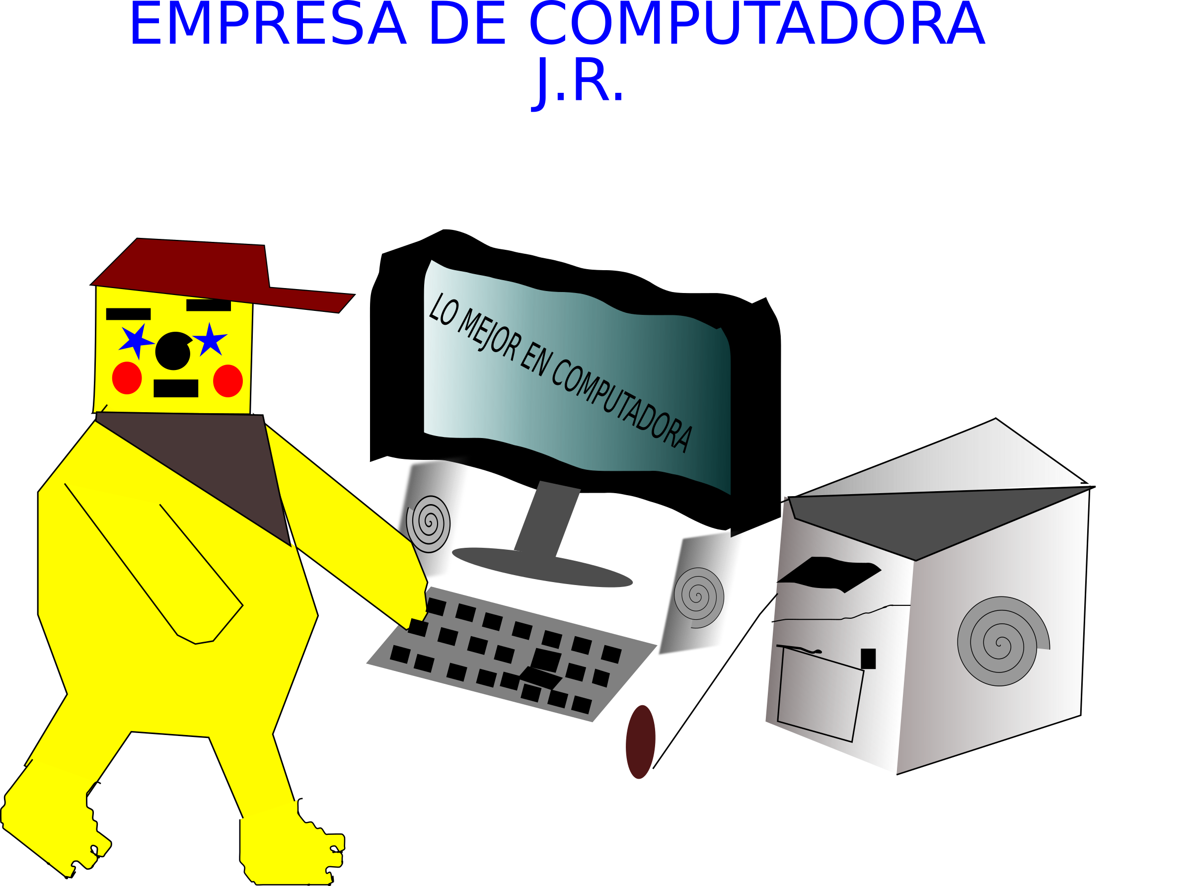 LOGOTIPO DE EMPRESA DE COMPUTADORA by johnn125