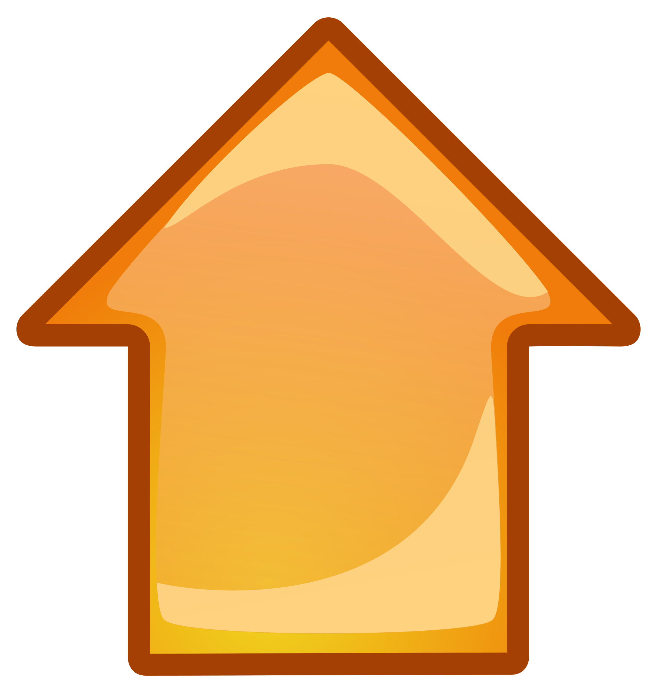 Clipart - arrow-orange-up