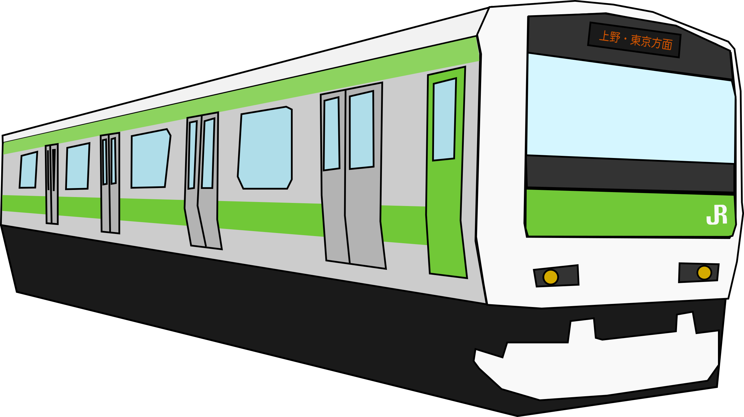 Yamanote Train by j4p4n
