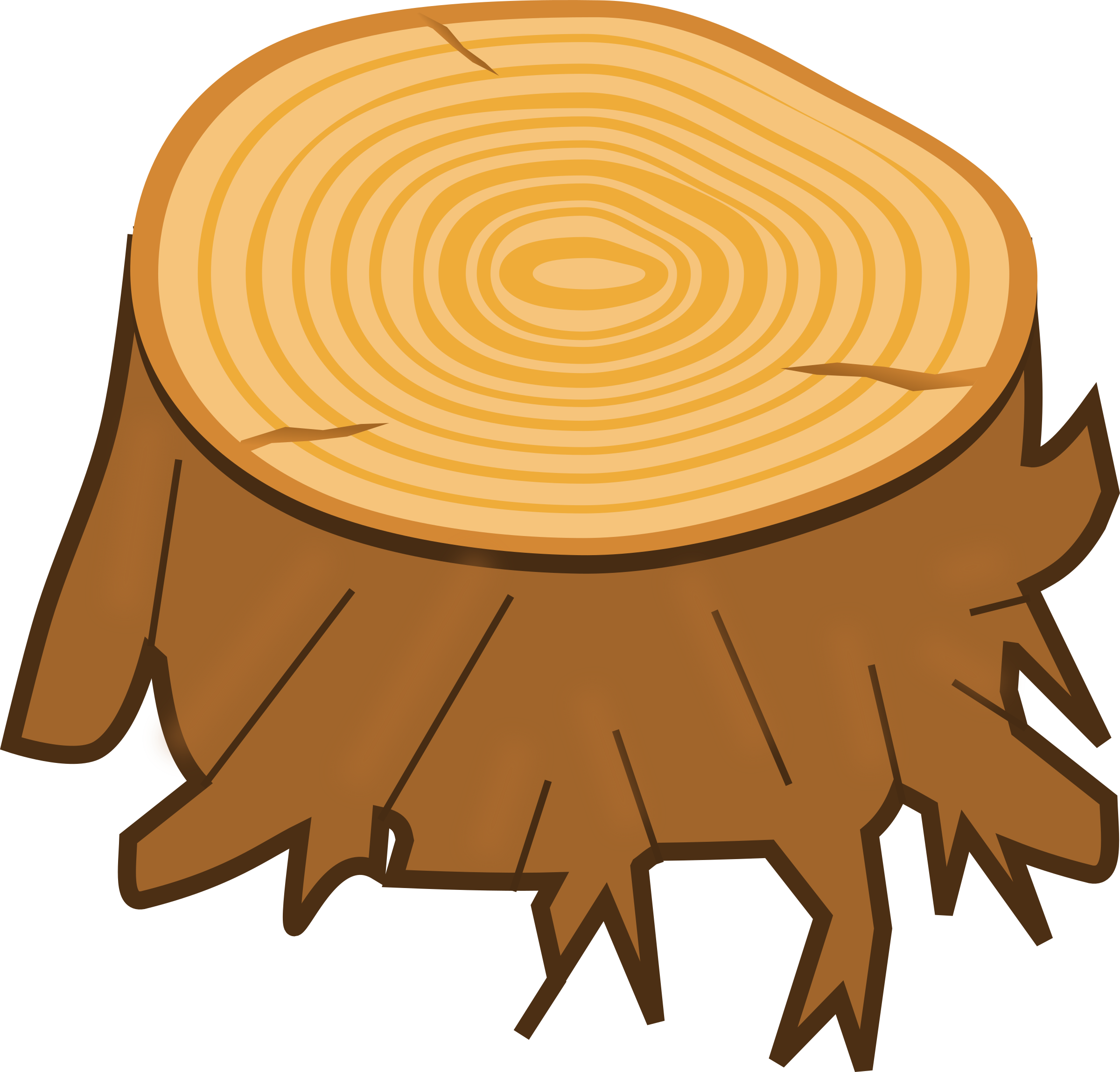 Tree stump by Magnesus