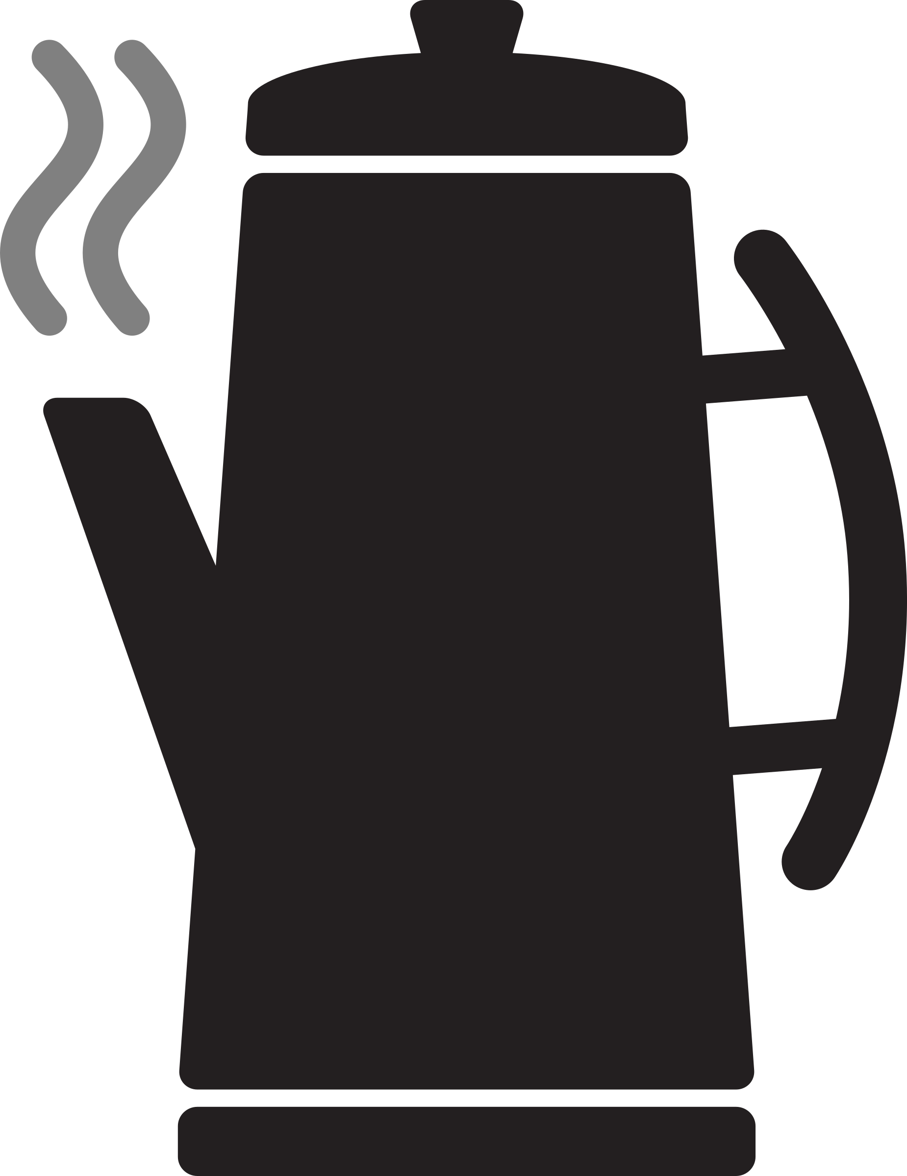 Kitchen Icon - Coffee Percolator by StudioFibonacci