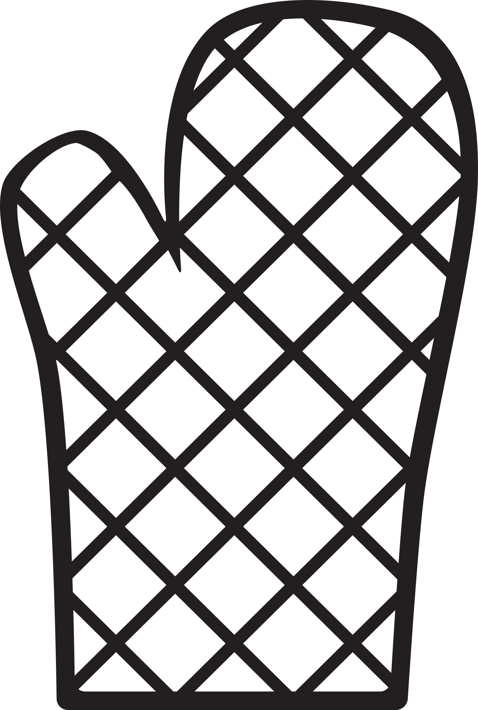 Kitchen Icon - Oven Mitt by StudioFibonacci