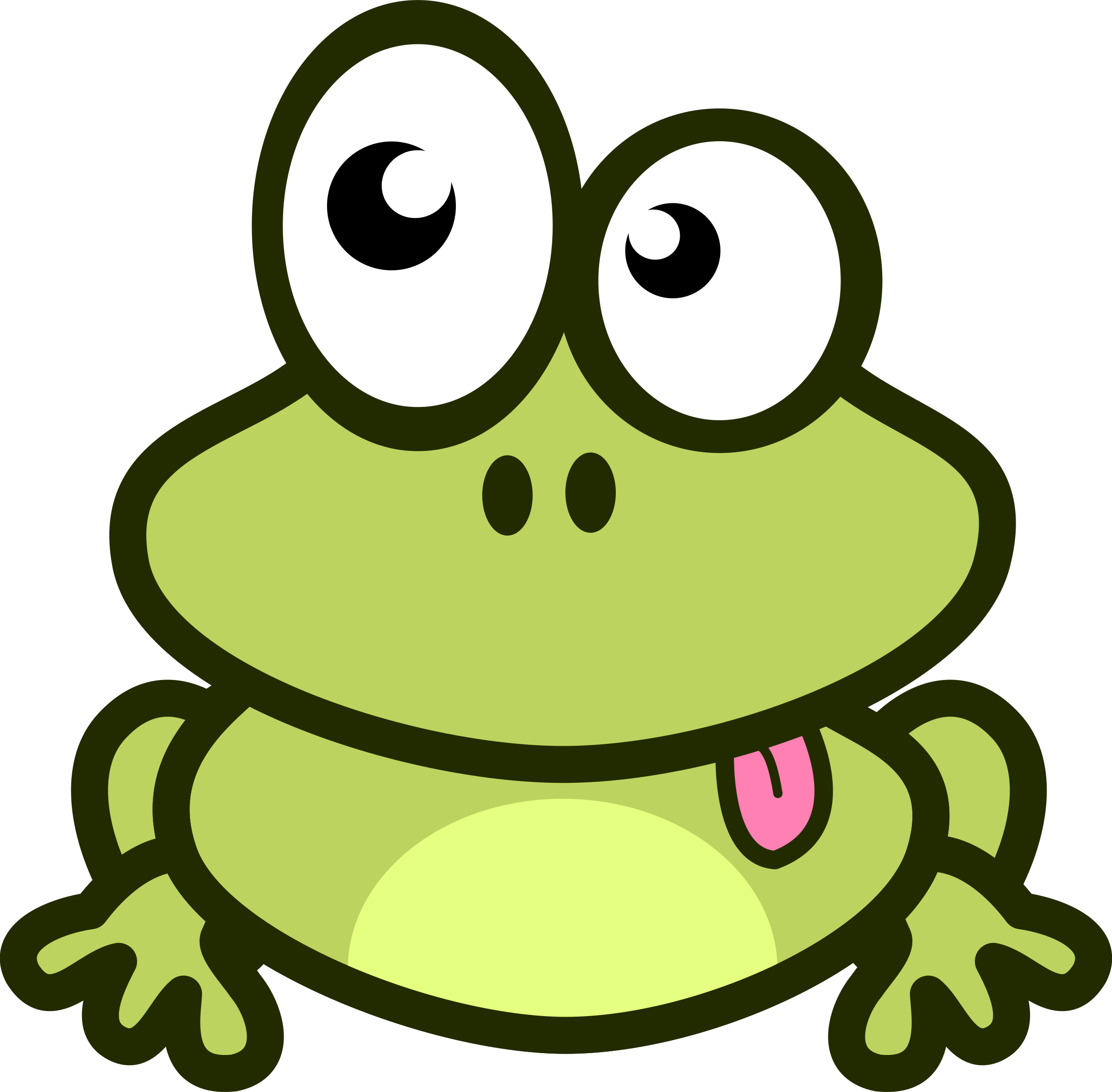 Grenouille tirant la langue by mathafix