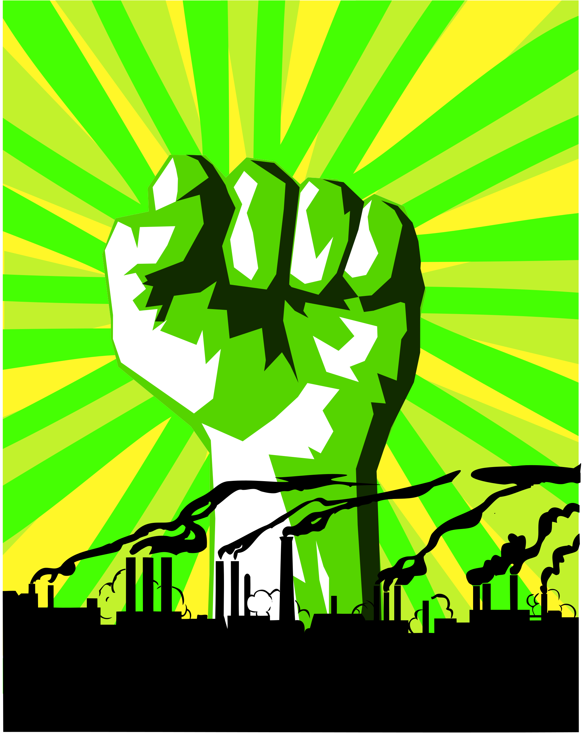Green power against pollution by dominiquechappard