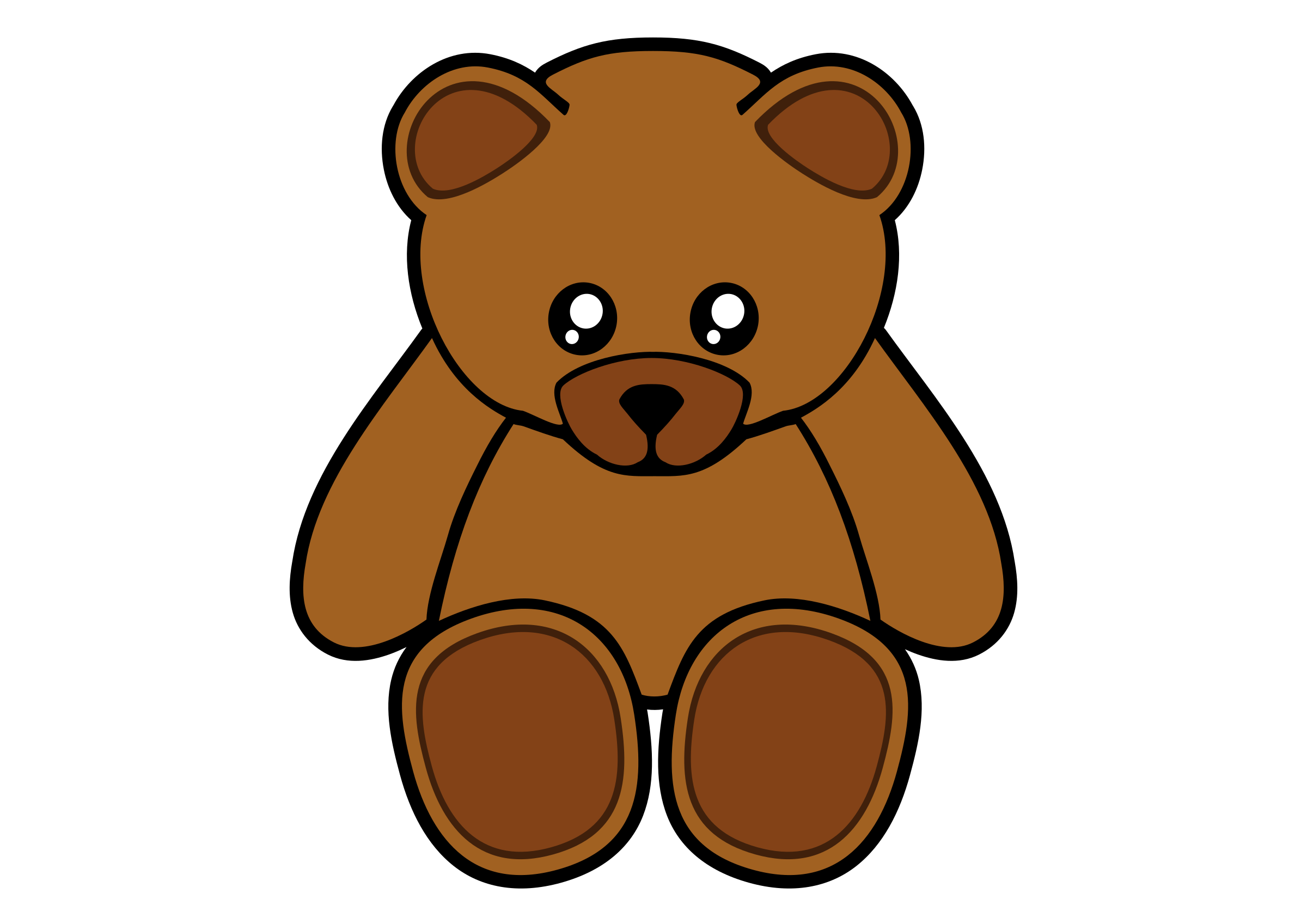 Simple Teddy Bear by Gigglish