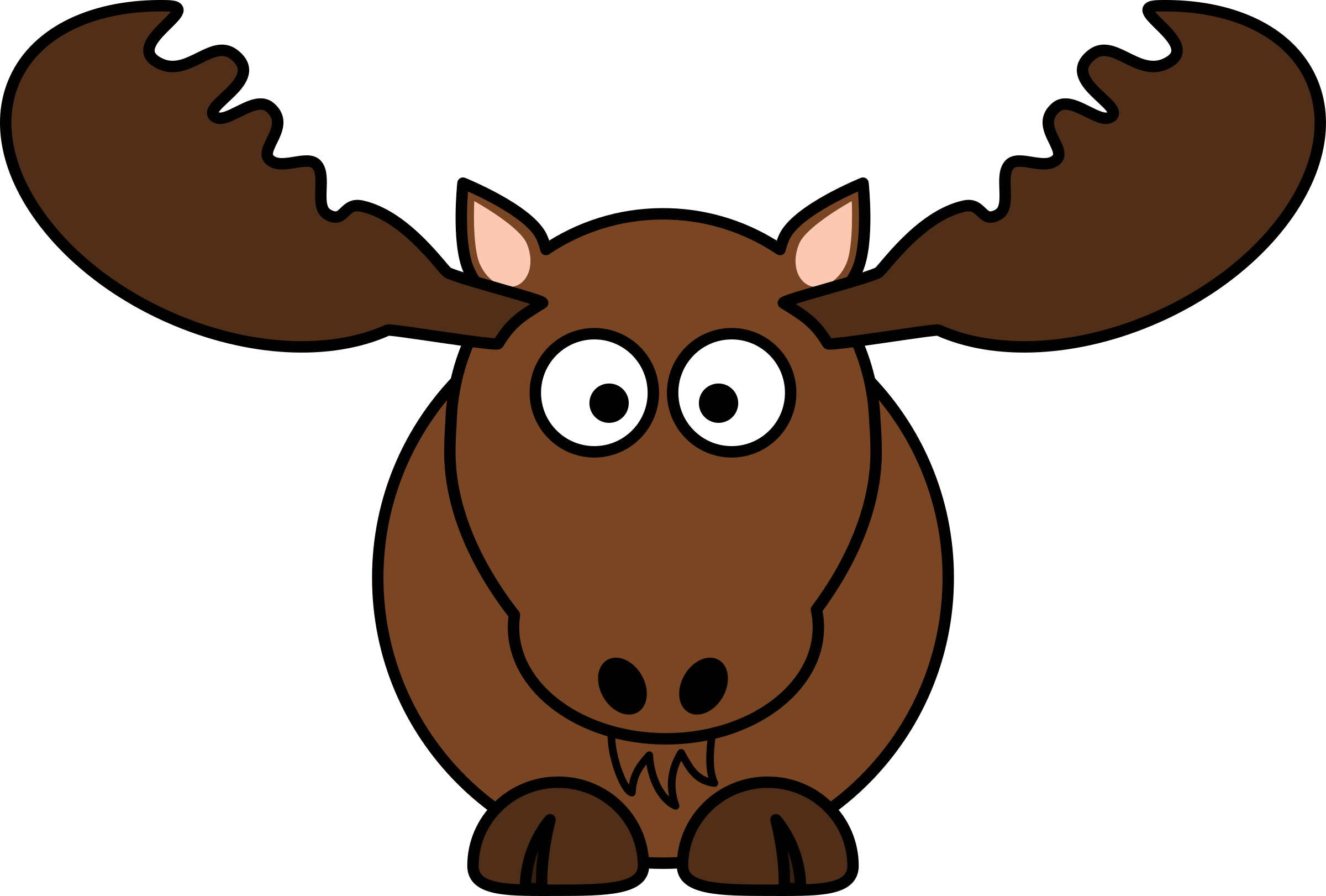 Cartoon Moose by StudioFibonacci