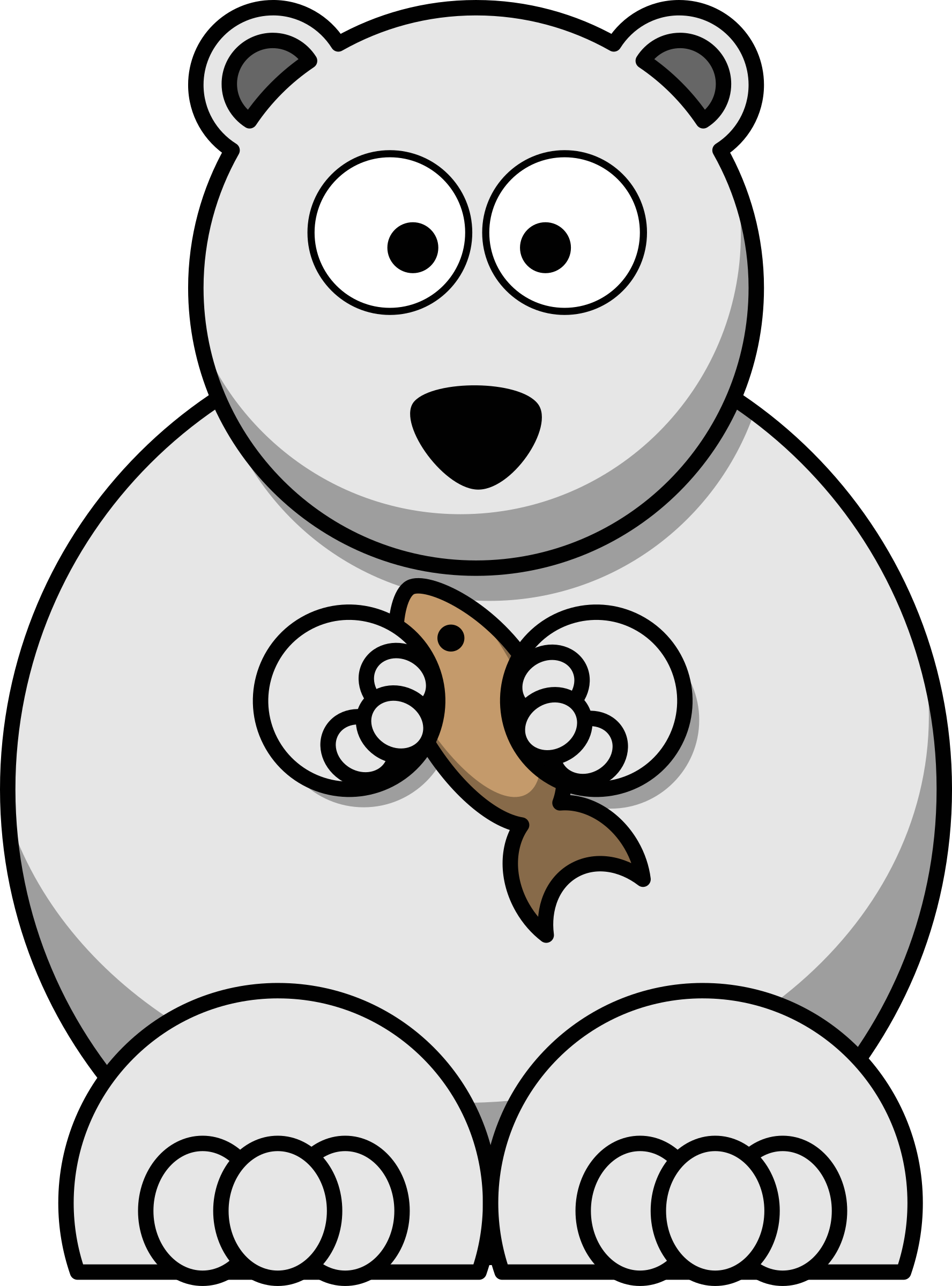 clipart cartoon polar bear rh openclipart org polar bear clipart cute polar bear clipart png
