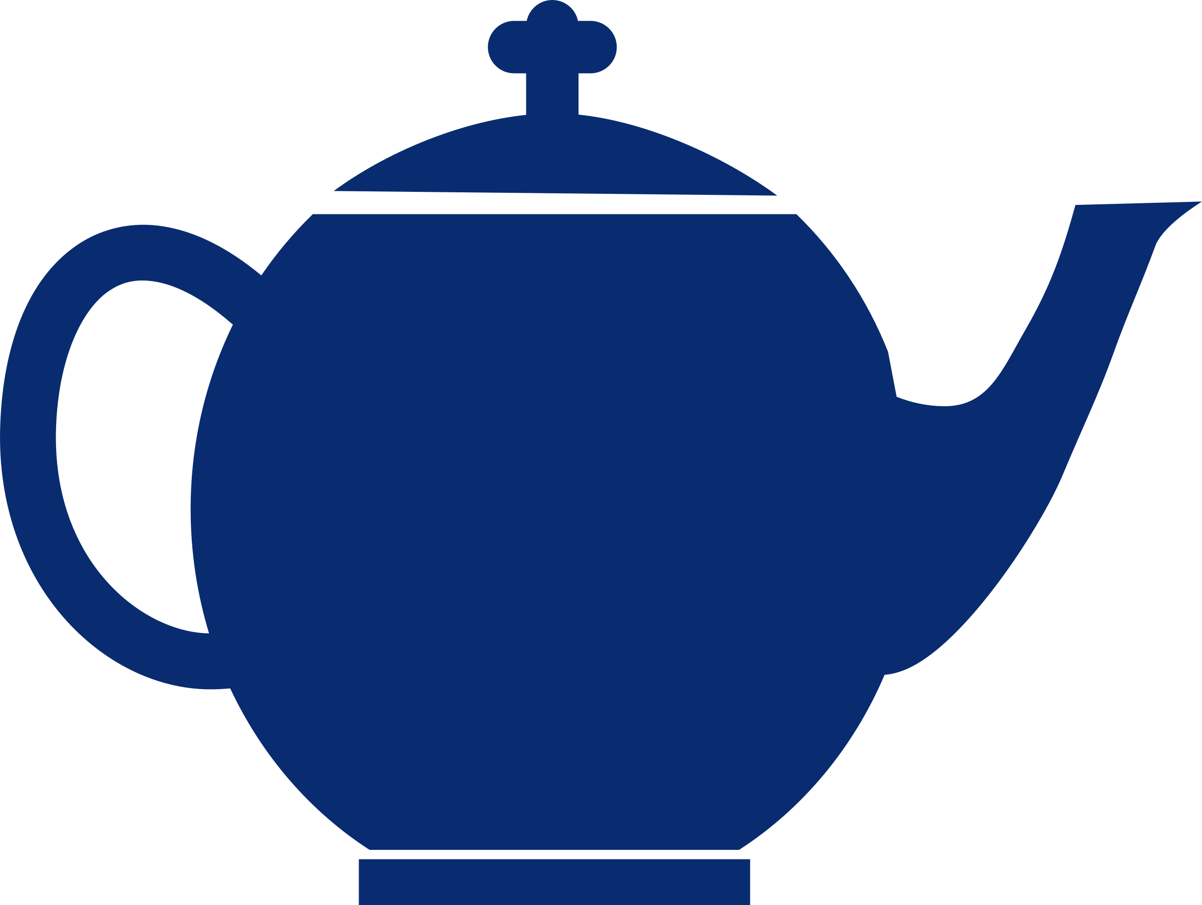 Jubilee tea pot blue by mr_johnnyp