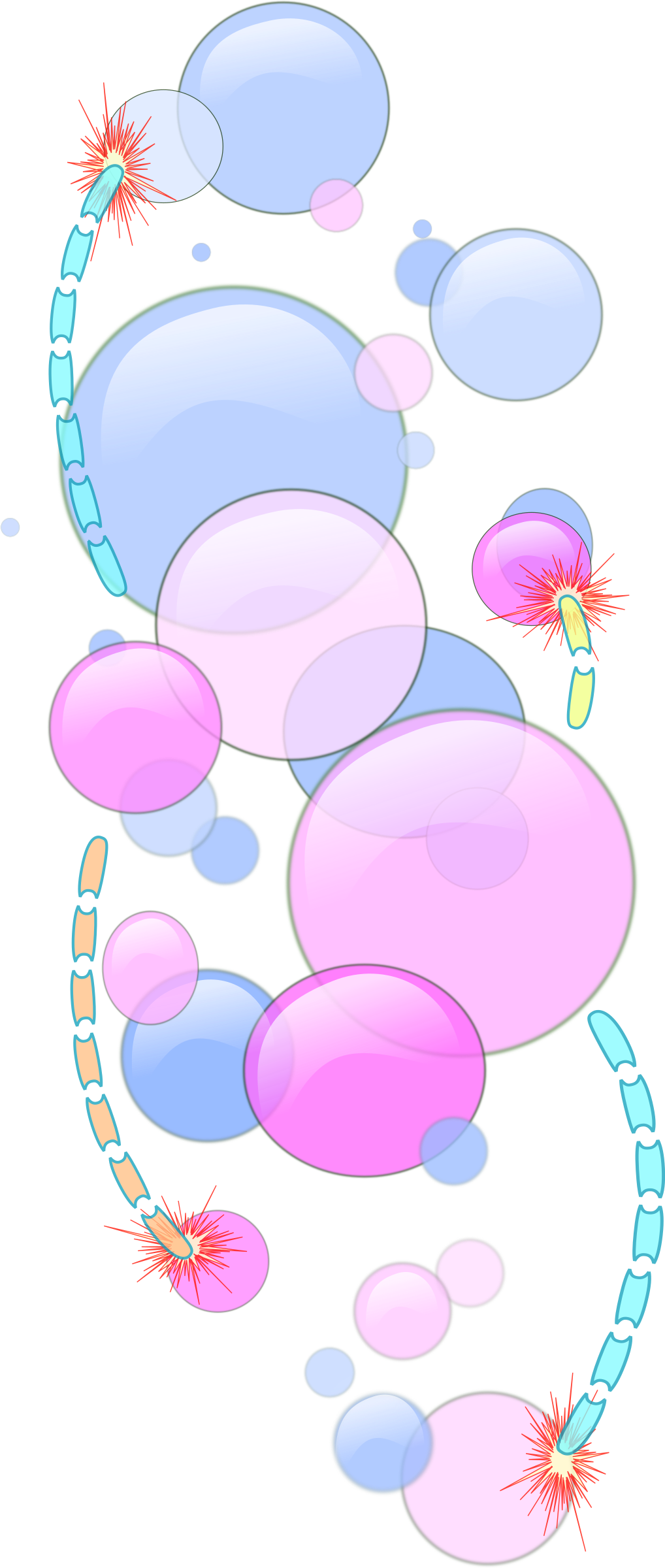 Clipart Bubbles And Worms