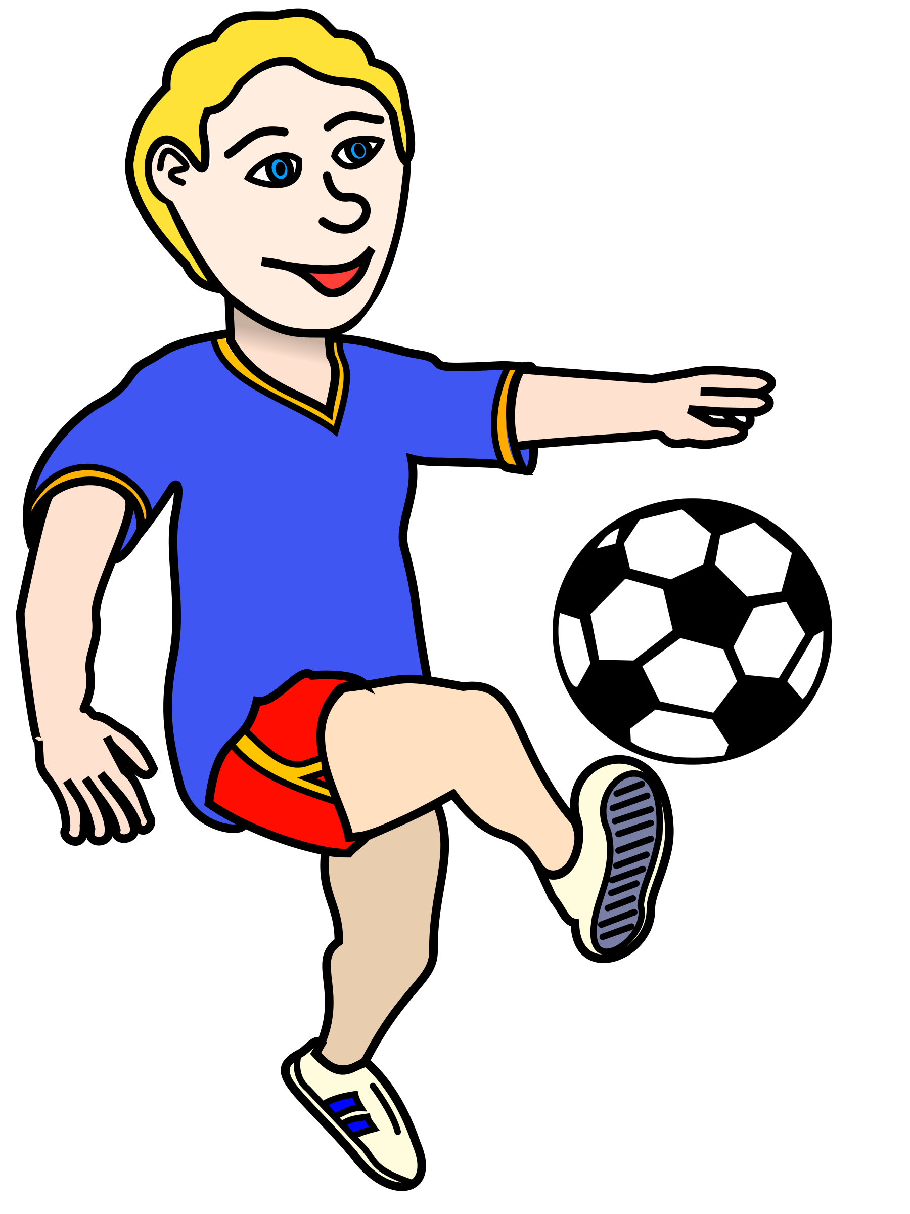 Soccer playing boy coloured by frankes