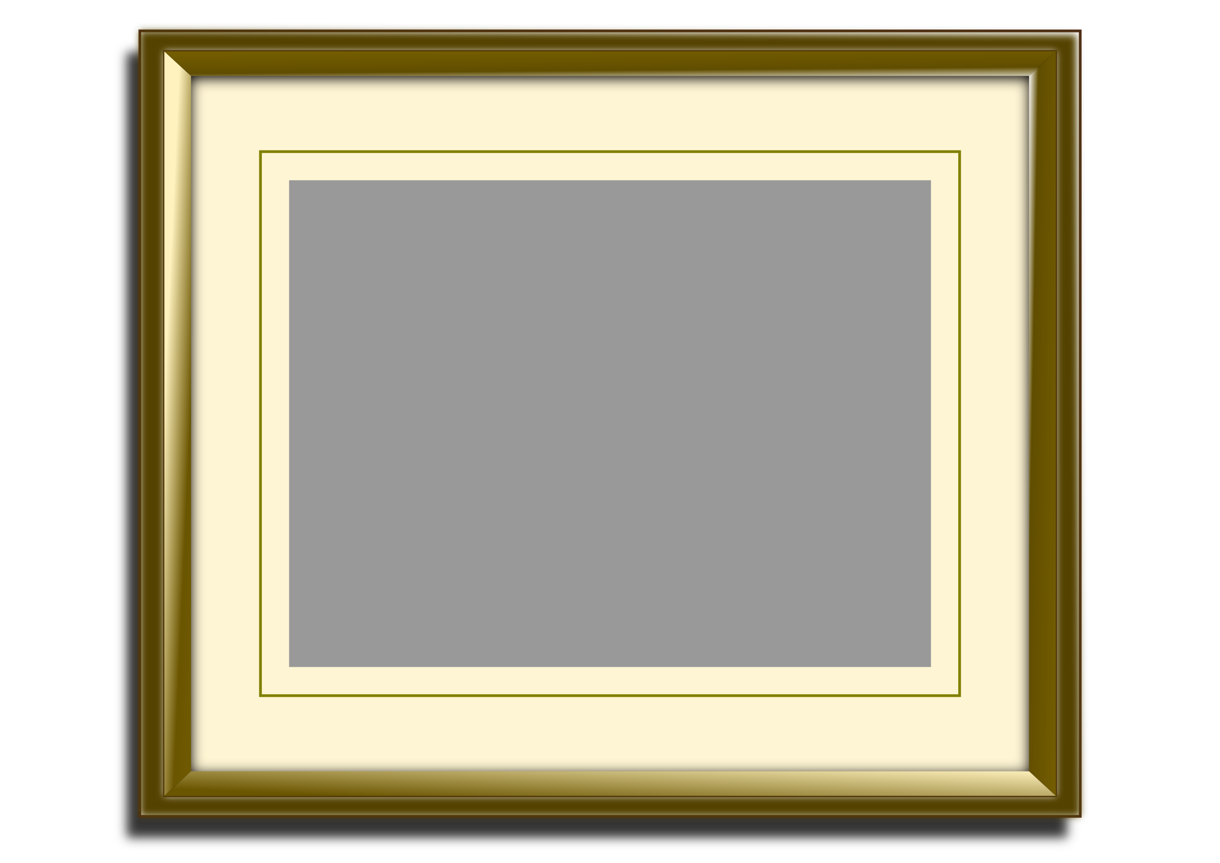 Golden picture frame by tasper