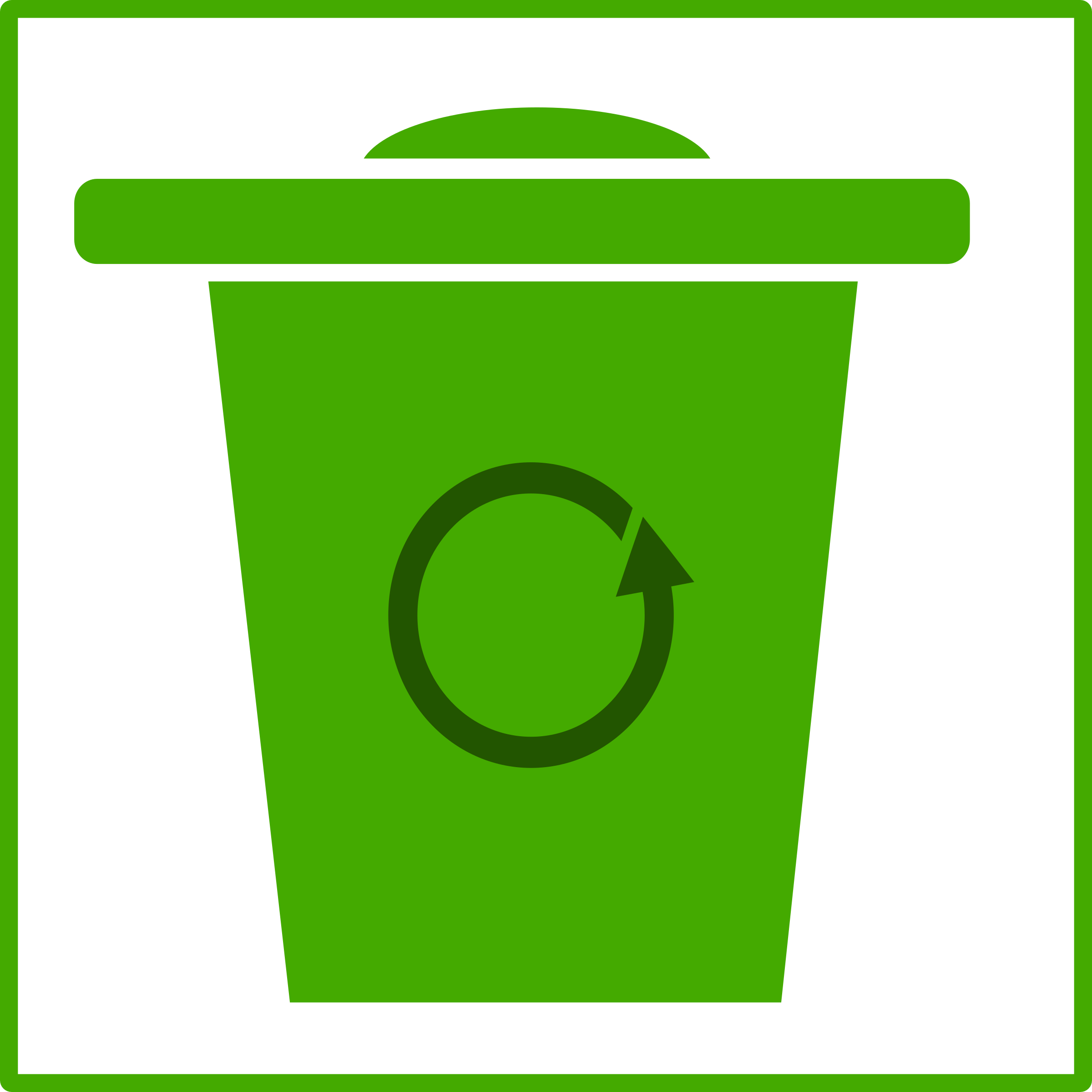 eco green trash icon by dominiquechappard