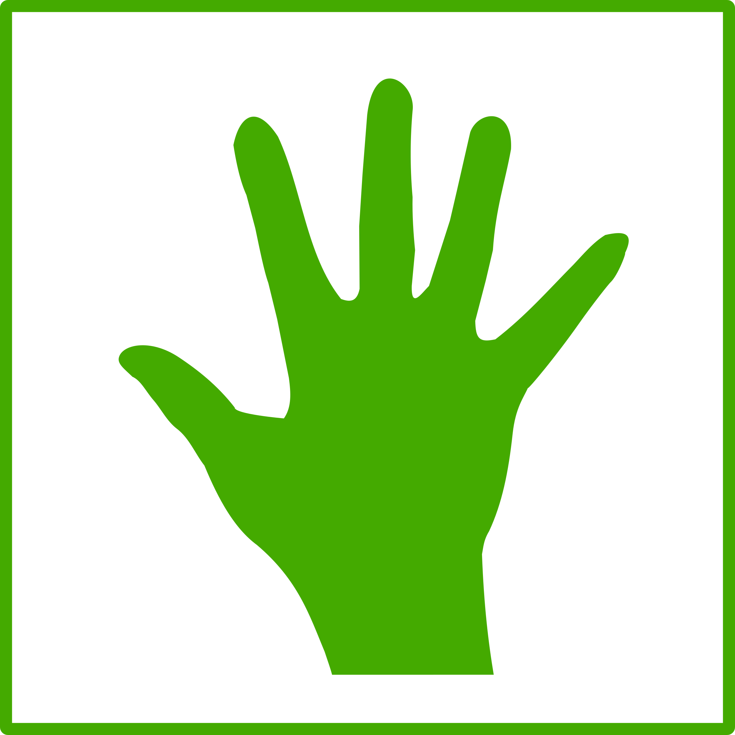 eco green hand icon by dominiquechappard