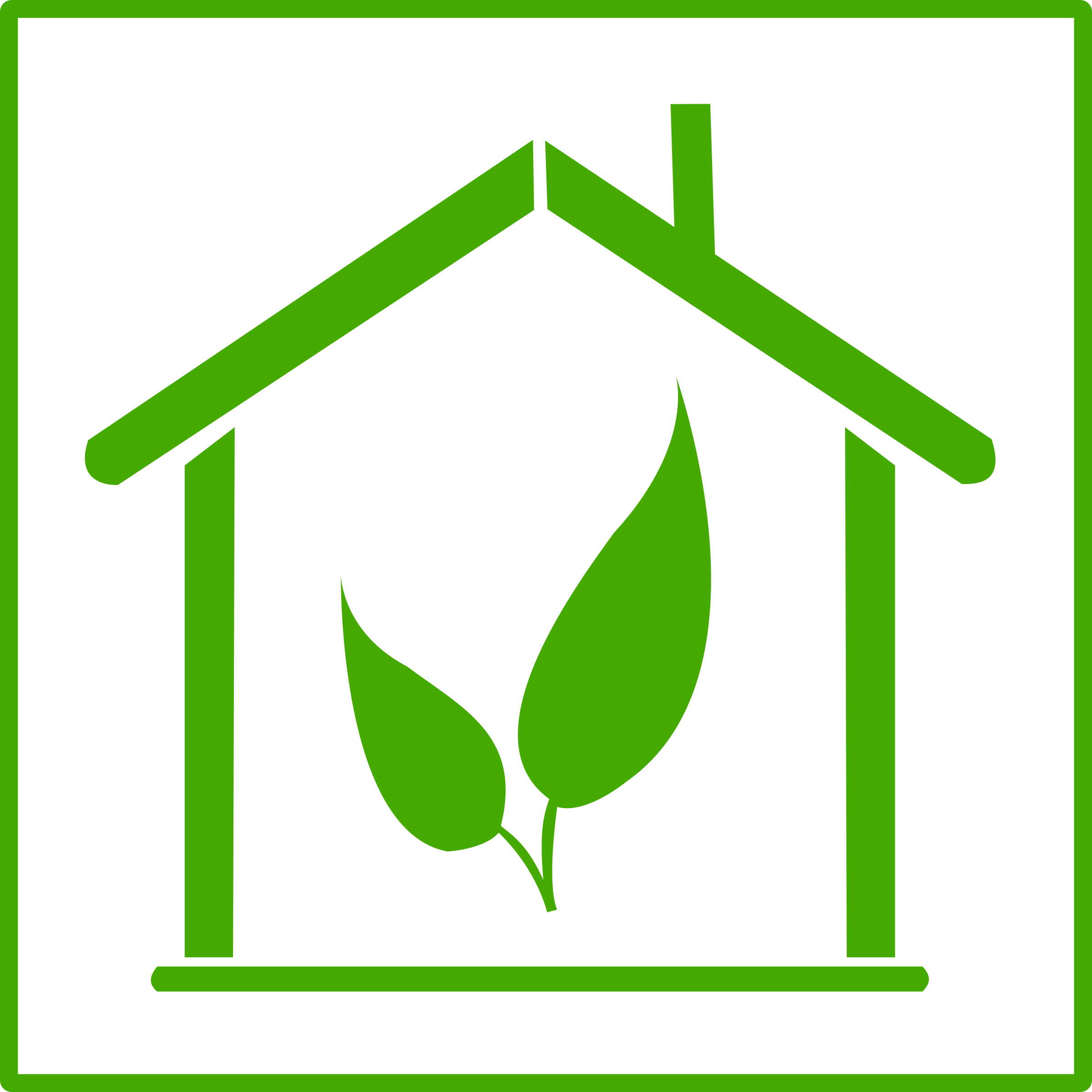 eco green house icon by dominiquechappard
